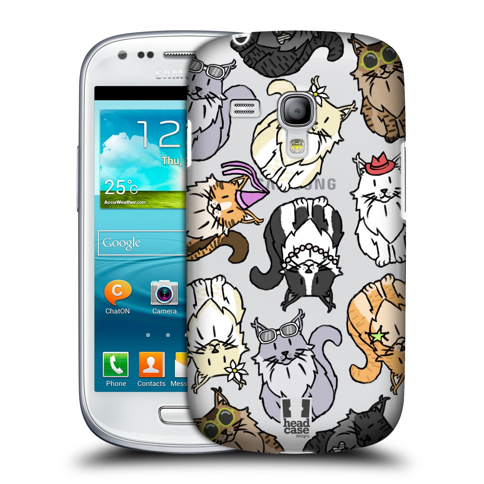 Silikonové pouzdro na mobil Samsung Galaxy S III Mini VE - Head Case - Mainská mývalí kočka (Plastový kryt či obal na mobilní telefon s motivem kočiček pro Samsung Galaxy S3 Mini VE GT-i8200)