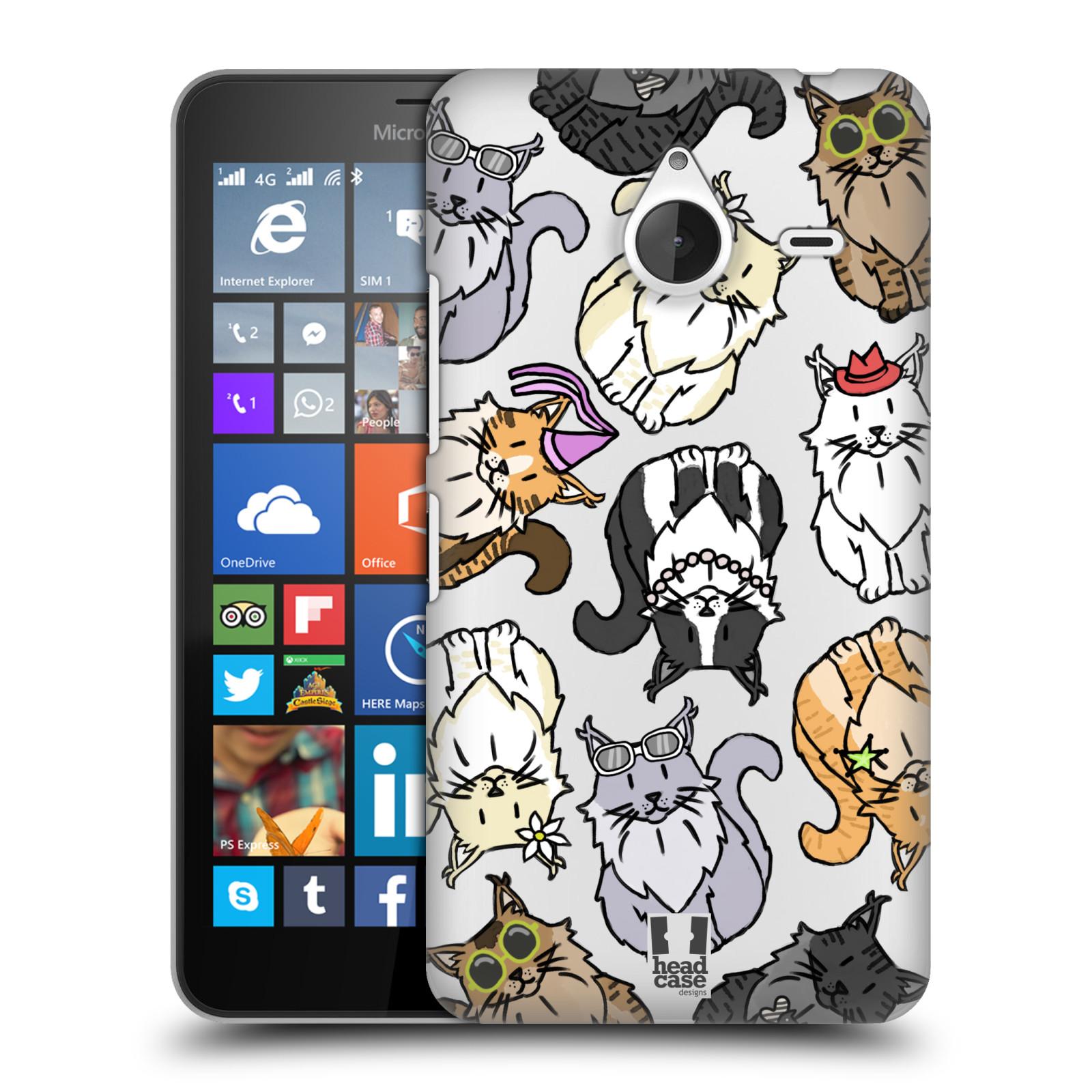 Plastové pouzdro na mobil Microsoft Lumia 640 XL - Head Case - Mainská mývalí kočka (Plastový kryt či obal na mobilní telefon s motivem kočiček pro Microsoft Lumia 640 XL)