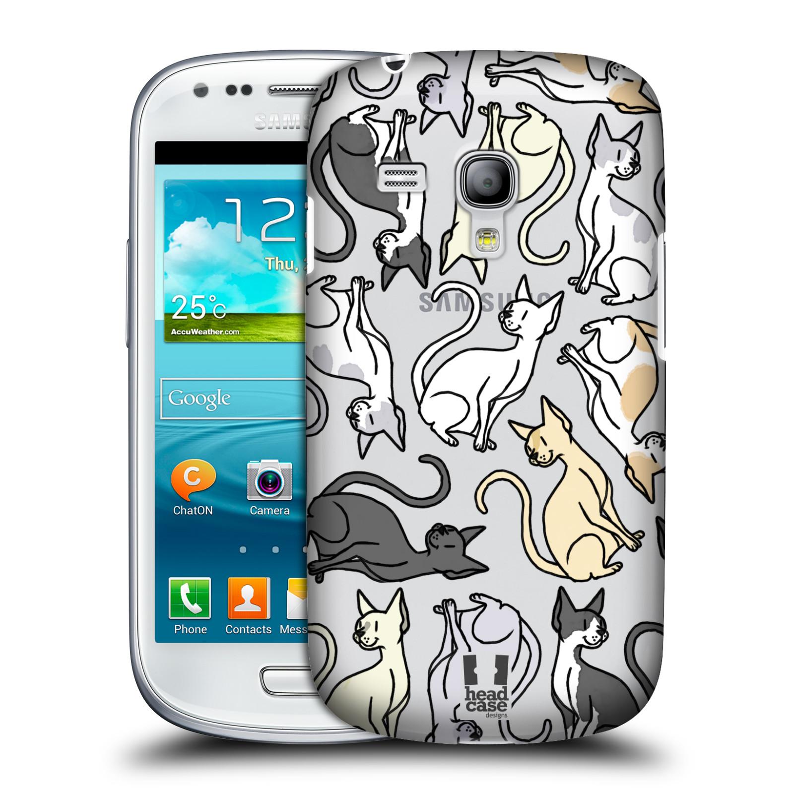 Silikonové pouzdro na mobil Samsung Galaxy S III Mini VE - Head Case - Sphynx kočka (Plastový kryt či obal na mobilní telefon s motivem kočiček pro Samsung Galaxy S3 Mini VE GT-i8200)