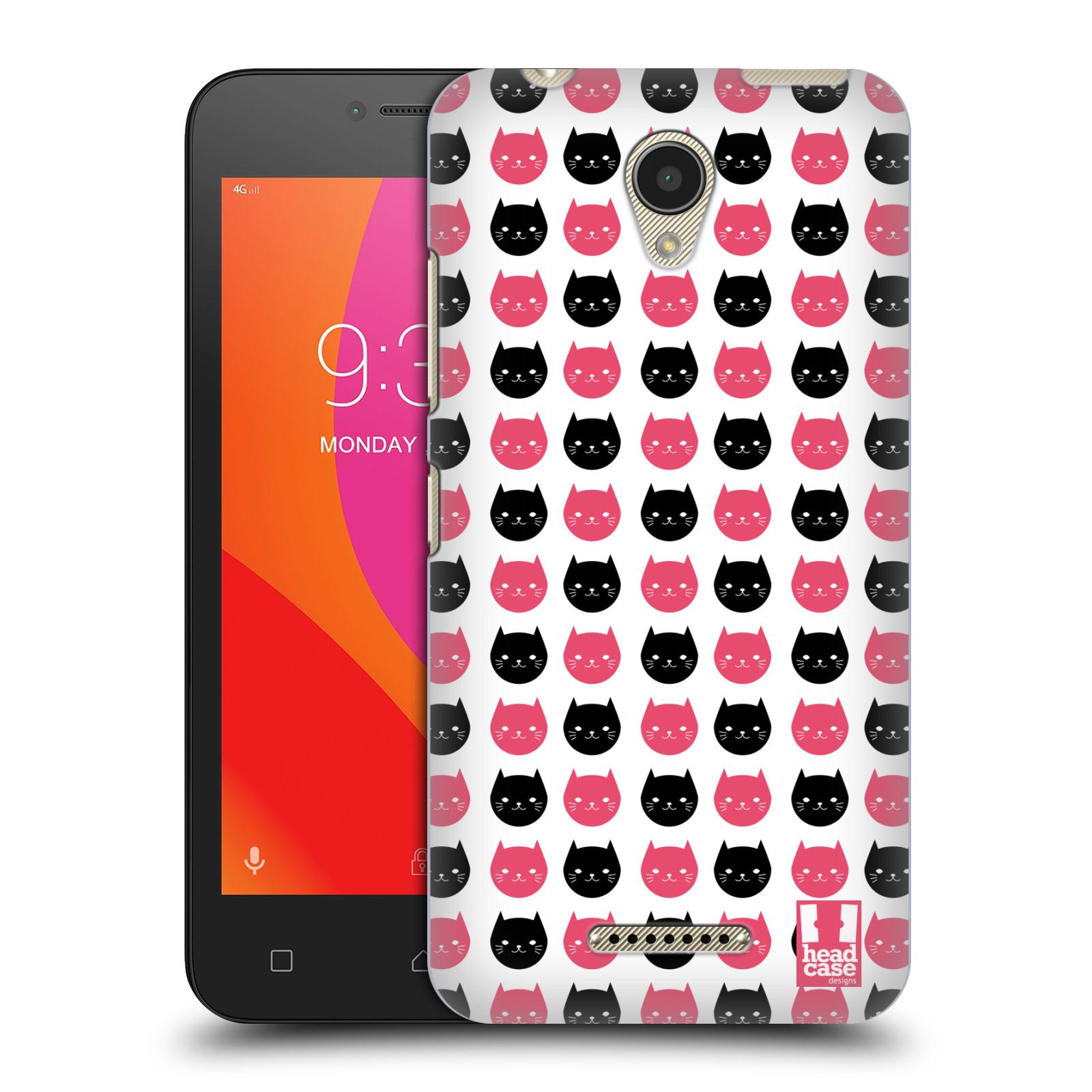 Plastové pouzdro na mobil Lenovo B - Head Case - KOČKY Black and Pink (Plastový kryt či obal na mobilní telefon Lenovo B s motivem KOČKY Black and Pink)