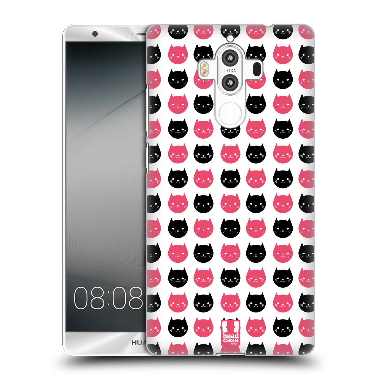 Plastové pouzdro na mobil Huawei Mate 9 - Head Case KOČKY Black and Pink (Plastový kryt či obal na mobilní telefon Huawei Mate 9 (Dual SIM))