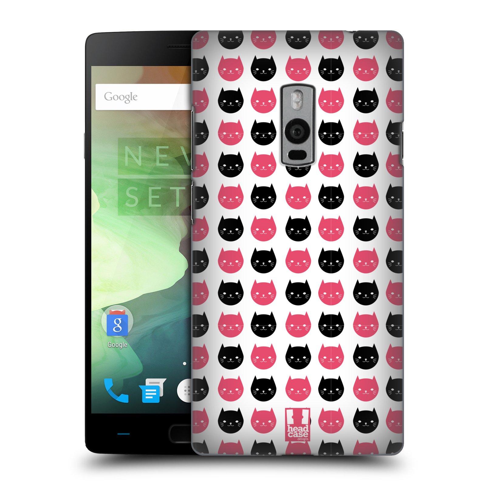 Plastové pouzdro na mobil OnePlus Two HEAD CASE KOČKY Black and Pink (Kryt či obal na mobilní telefon OnePlus Two)
