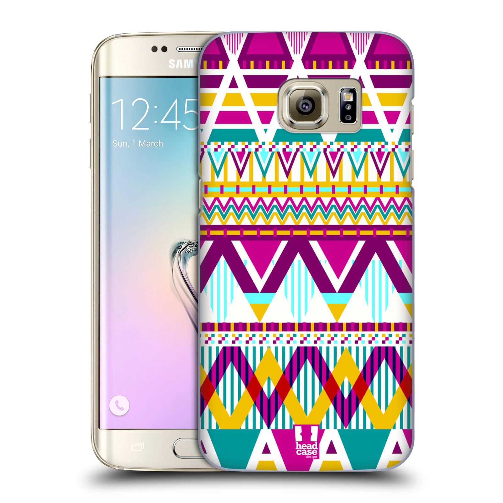 Plastové pouzdro na mobil Samsung Galaxy S7 Edge HEAD CASE AZTEC SUGARED (Kryt či obal na mobilní telefon Samsung Galaxy S7 Edge SM-G935F)