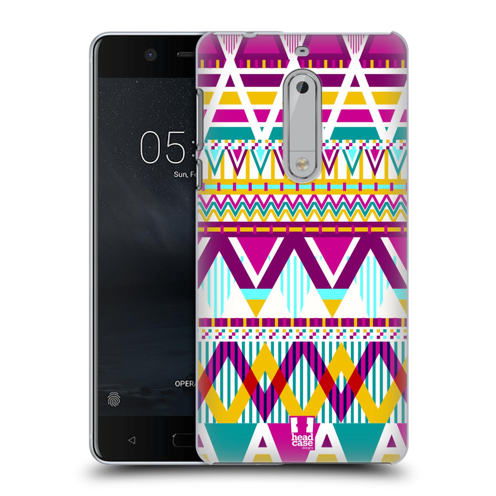 Plastové pouzdro na mobil Nokia 5 Head Case - AZTEC SUGARED (Plastový kryt či obal na mobilní telefon Nokia 5 (2017))