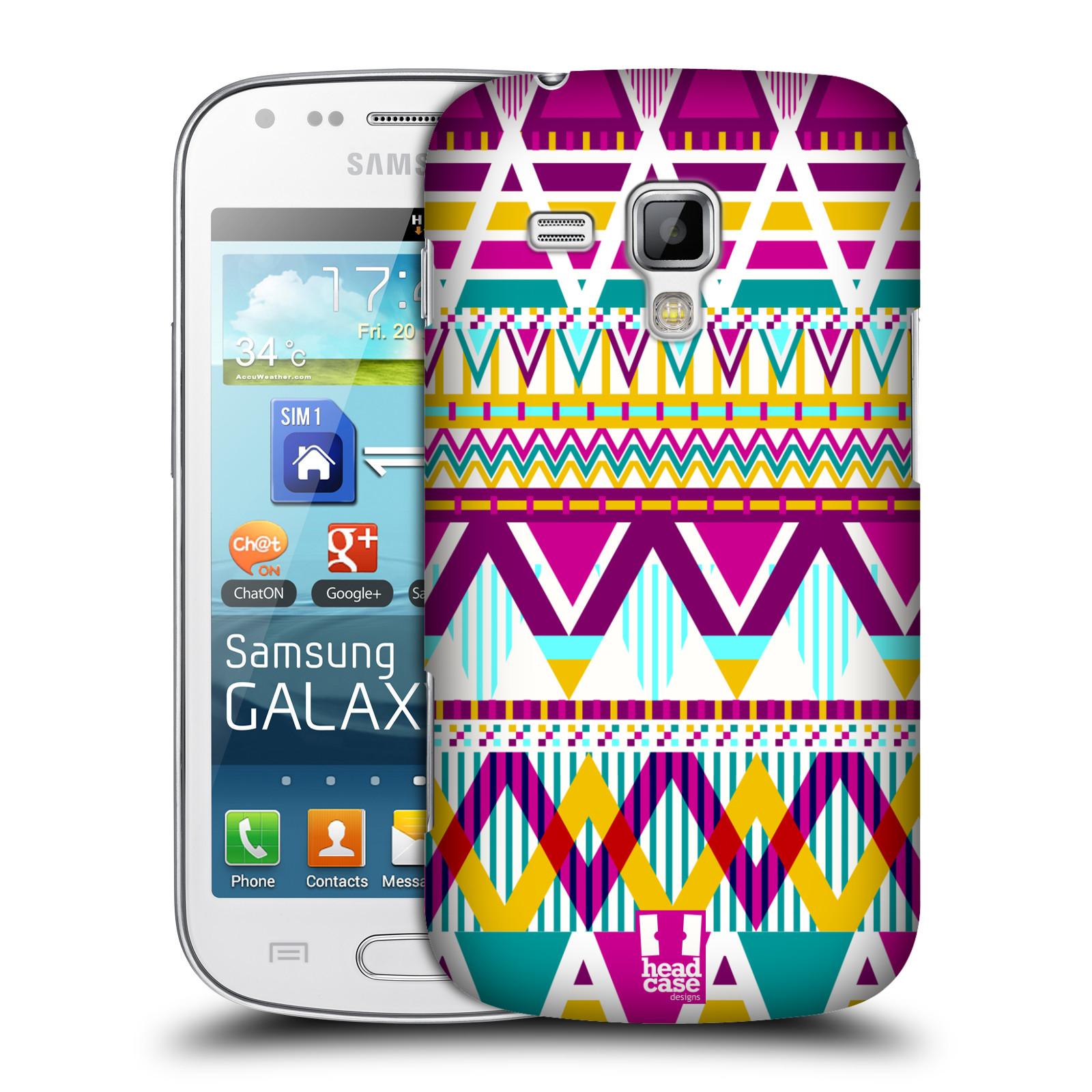 Plastové pouzdro na mobil Samsung Galaxy Trend Plus HEAD CASE AZTEC SUGARED