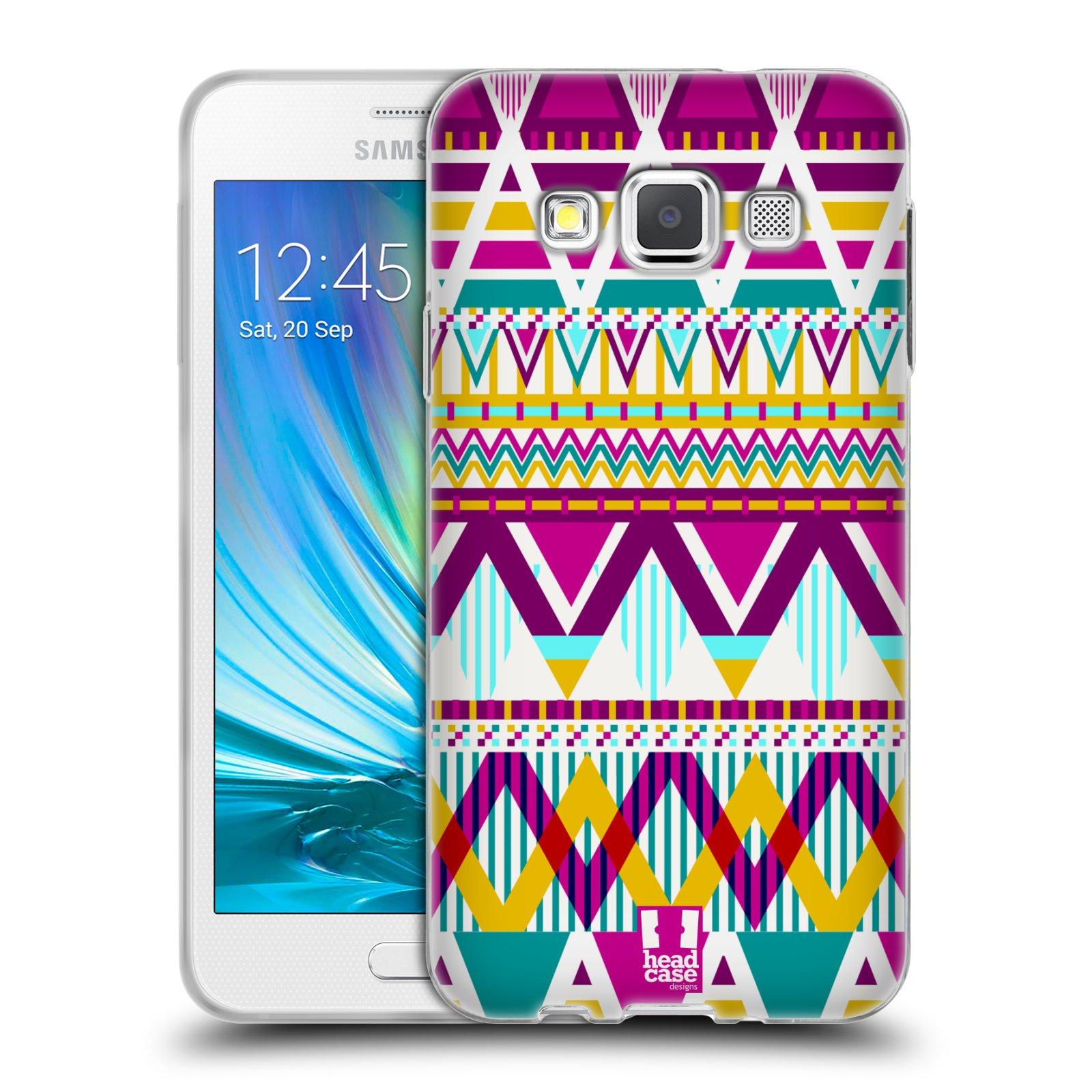 Silikonové pouzdro na mobil Samsung Galaxy A3 HEAD CASE AZTEC SUGARED