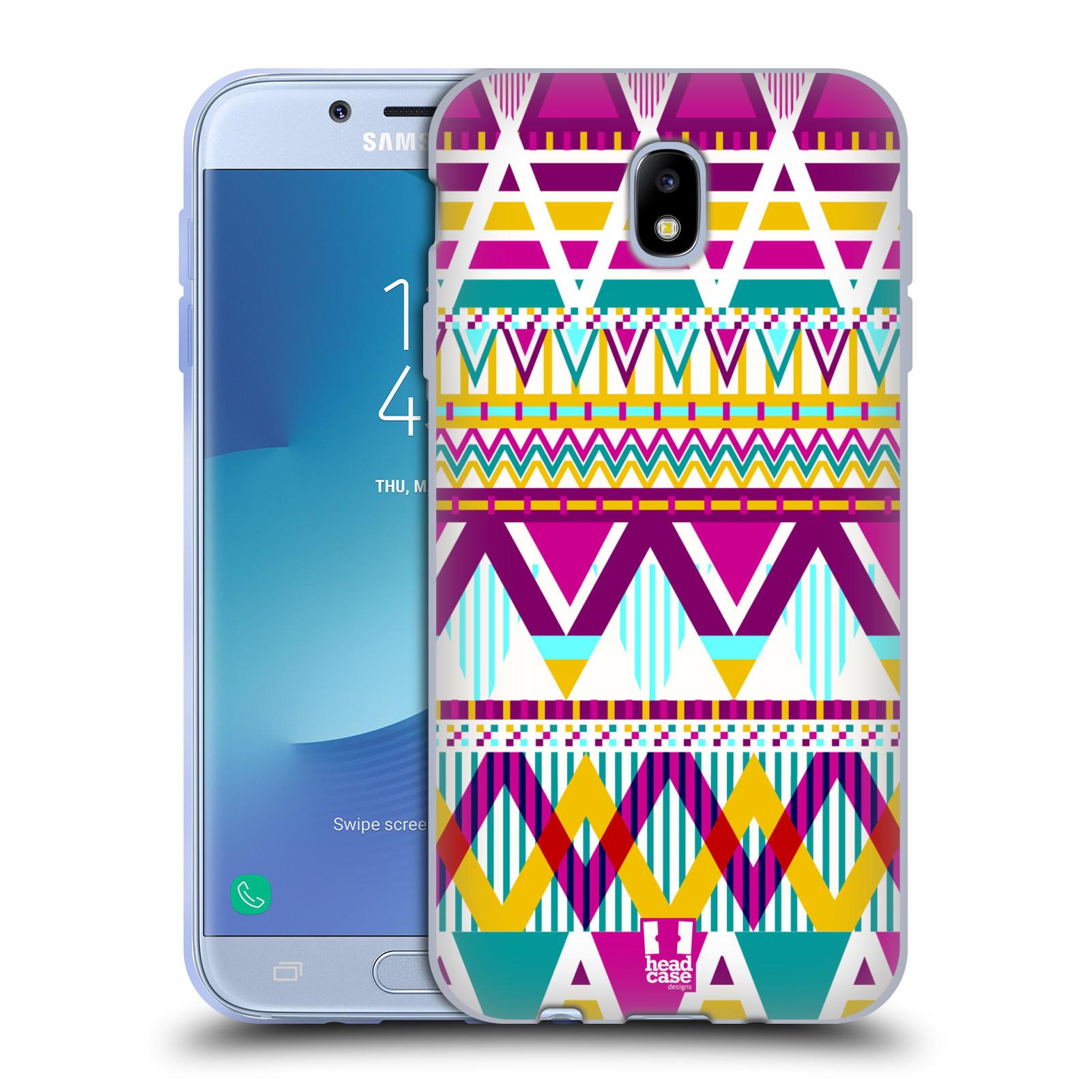 Silikonové pouzdro na mobil Samsung Galaxy J7 (2017) - Head Case - AZTEC SUGARED
