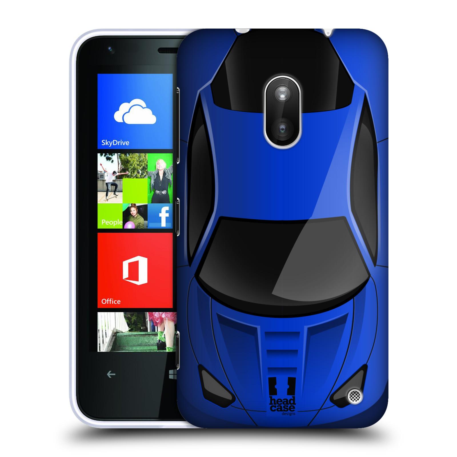 Pouzdro na mobil Nokia Lumia 620 HEAD CASE AUTO MODRÉ (Kryt či obal na mobilní telefon Nokia Lumia 620)