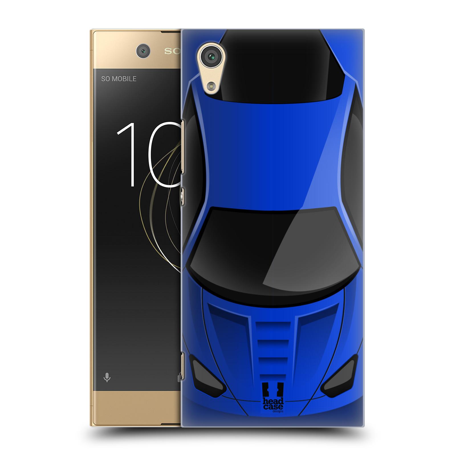 Plastové pouzdro na mobil Sony Xperia XA1 - Head Case - AUTO MODRÉ (Plastový kryt či obal na mobilní telefon Sony Xperia XA1 G3121 s motivem AUTO MODRÉ)
