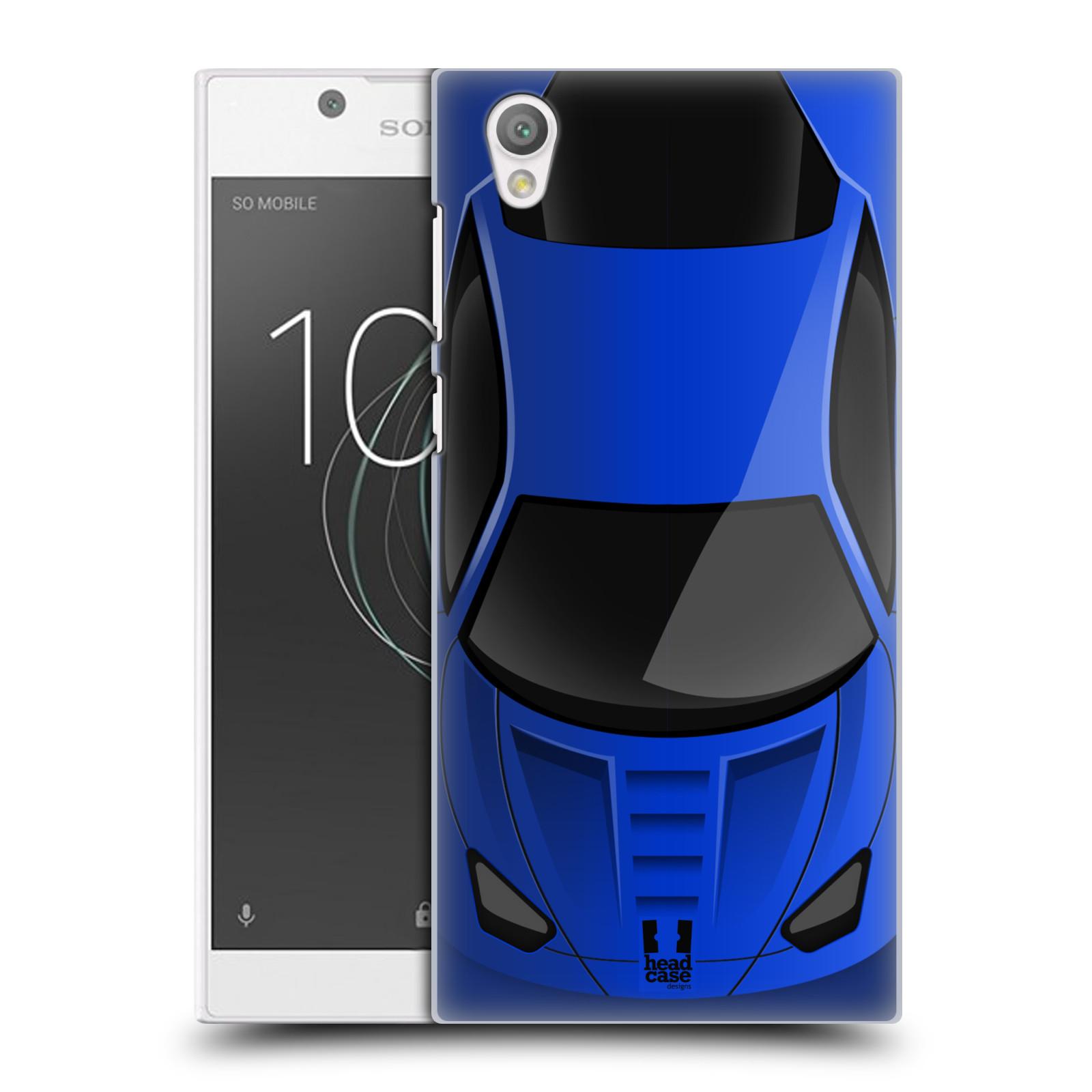 Plastové pouzdro na mobil Sony Xperia L1 - Head Case - AUTO MODRÉ (Plastový kryt či obal na mobilní telefon Sony Xperia L1 G3311 s motivem AUTO MODRÉ)
