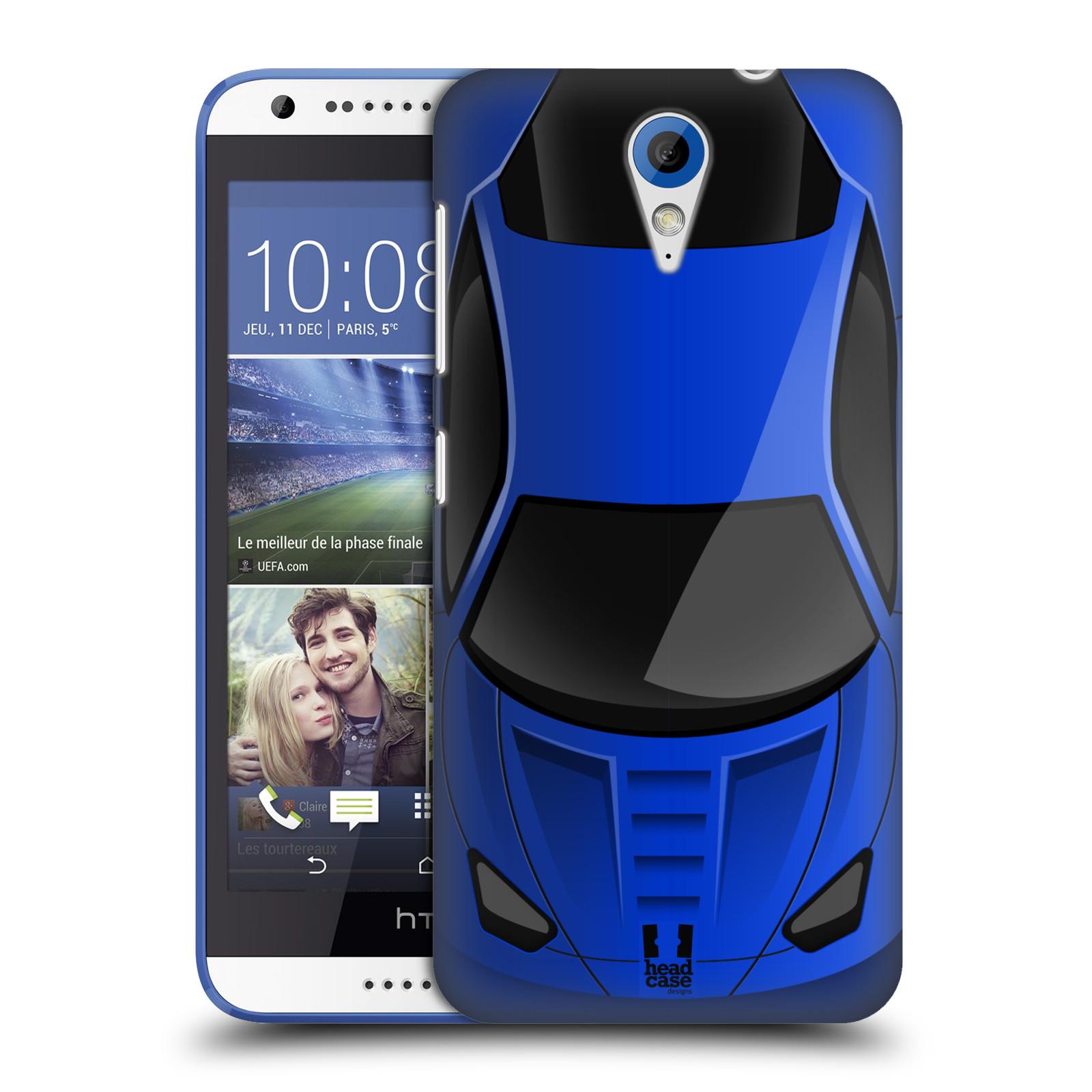 Plastové pouzdro na mobil HTC Desire 620 HEAD CASE AUTO MODRÉ (Kryt či obal na mobilní telefon HTC Desire 620)