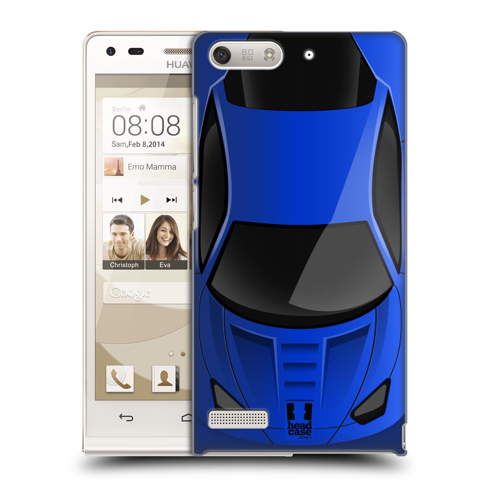 Plastové pouzdro na mobil Huawei Ascend G6 HEAD CASE AUTO MODRÉ (Kryt či obal na mobilní telefon Huawei Ascend G6 bez LTE)