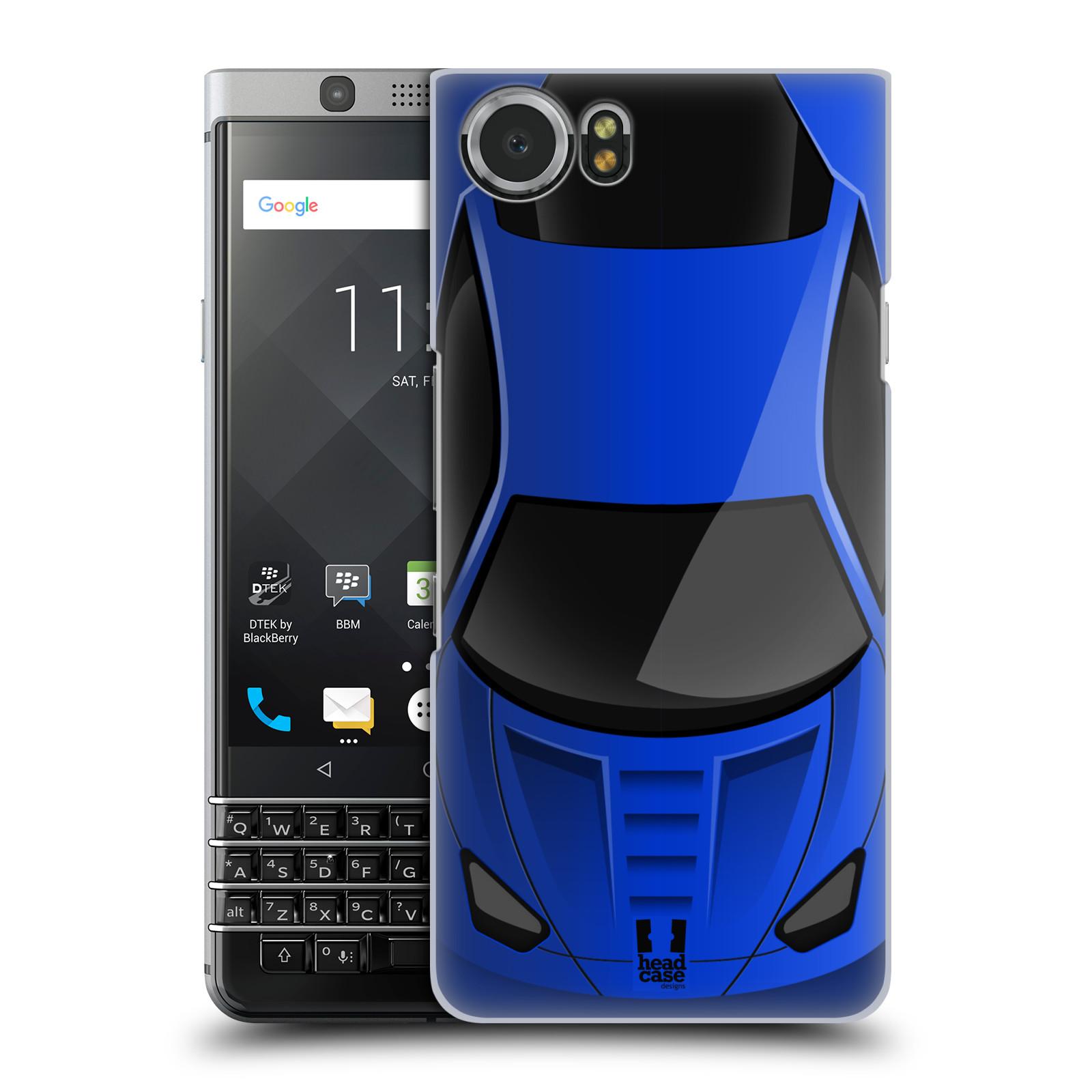 Plastové pouzdro na mobil BlackBerry KEYone - Head Case - AUTO MODRÉ (Plastový kryt či obal na mobilní telefon BlackBerry KEYone s motivem AUTO MODRÉ)