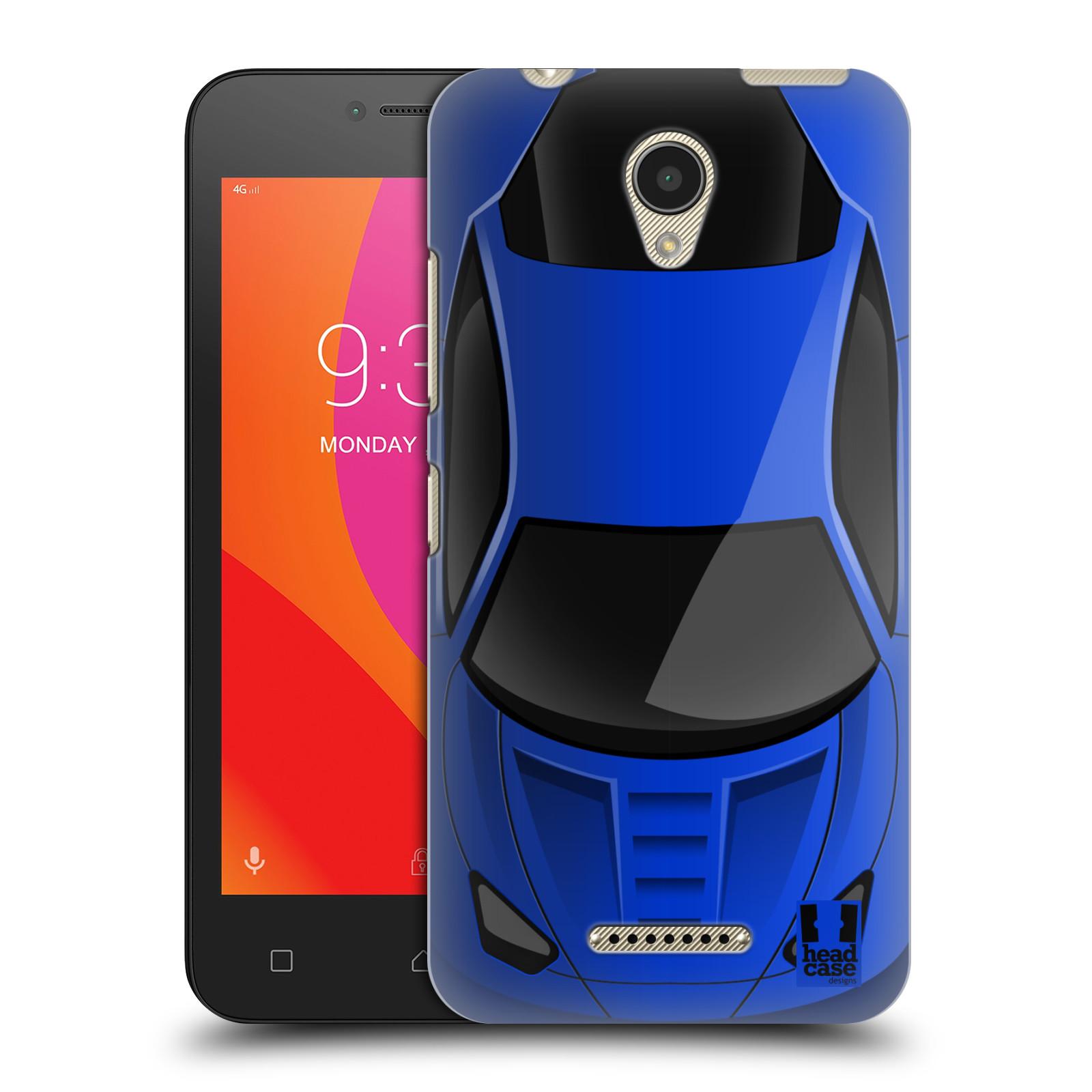 Plastové pouzdro na mobil Lenovo B - Head Case - AUTO MODRÉ (Plastový kryt či obal na mobilní telefon Lenovo B s motivem AUTO MODRÉ)