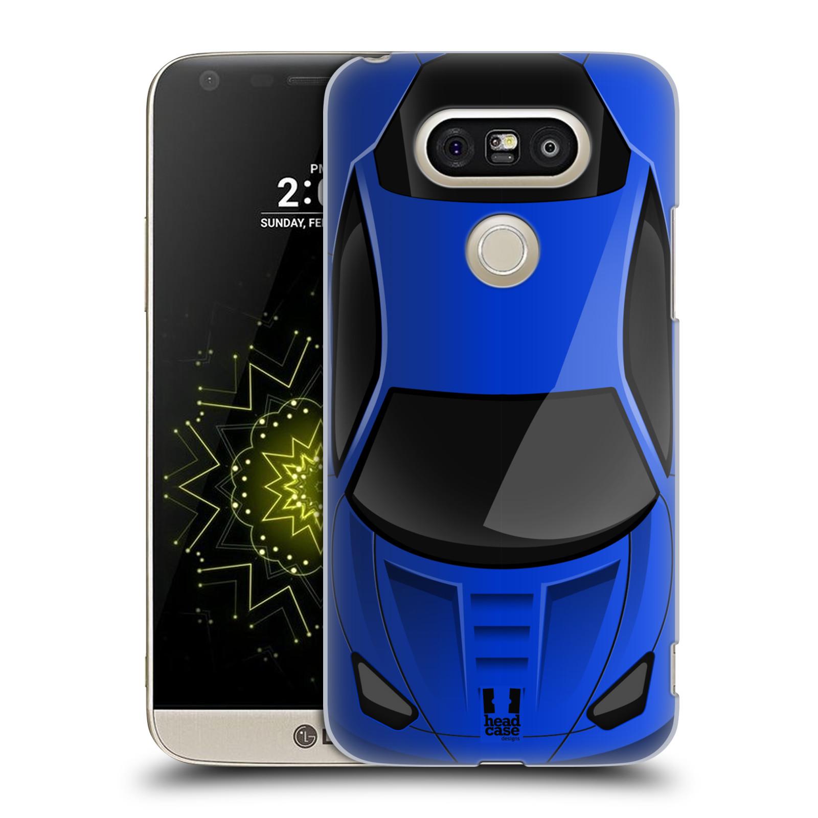 Plastové pouzdro na mobil LG G5 SE - Head Case - AUTO MODRÉ (Plastový kryt či obal na mobilní telefon LG G5 SE H840 s motivem AUTO MODRÉ)