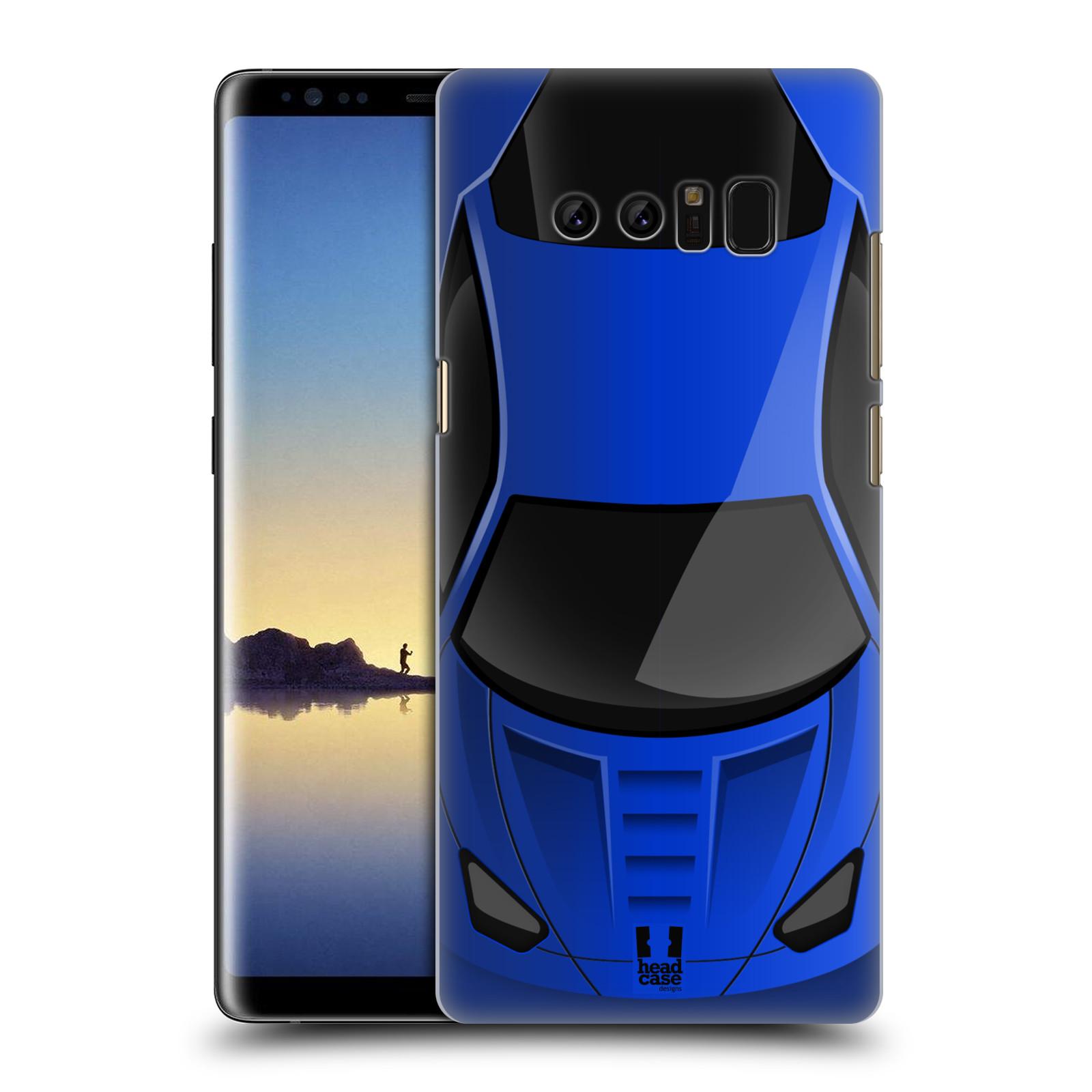 Plastové pouzdro na mobil Samsung Galaxy Note 8 - Head Case - AUTO MODRÉ (Plastový kryt či obal na mobilní telefon Samsung Galaxy Note 8 SM-N950 s motivem AUTO MODRÉ)
