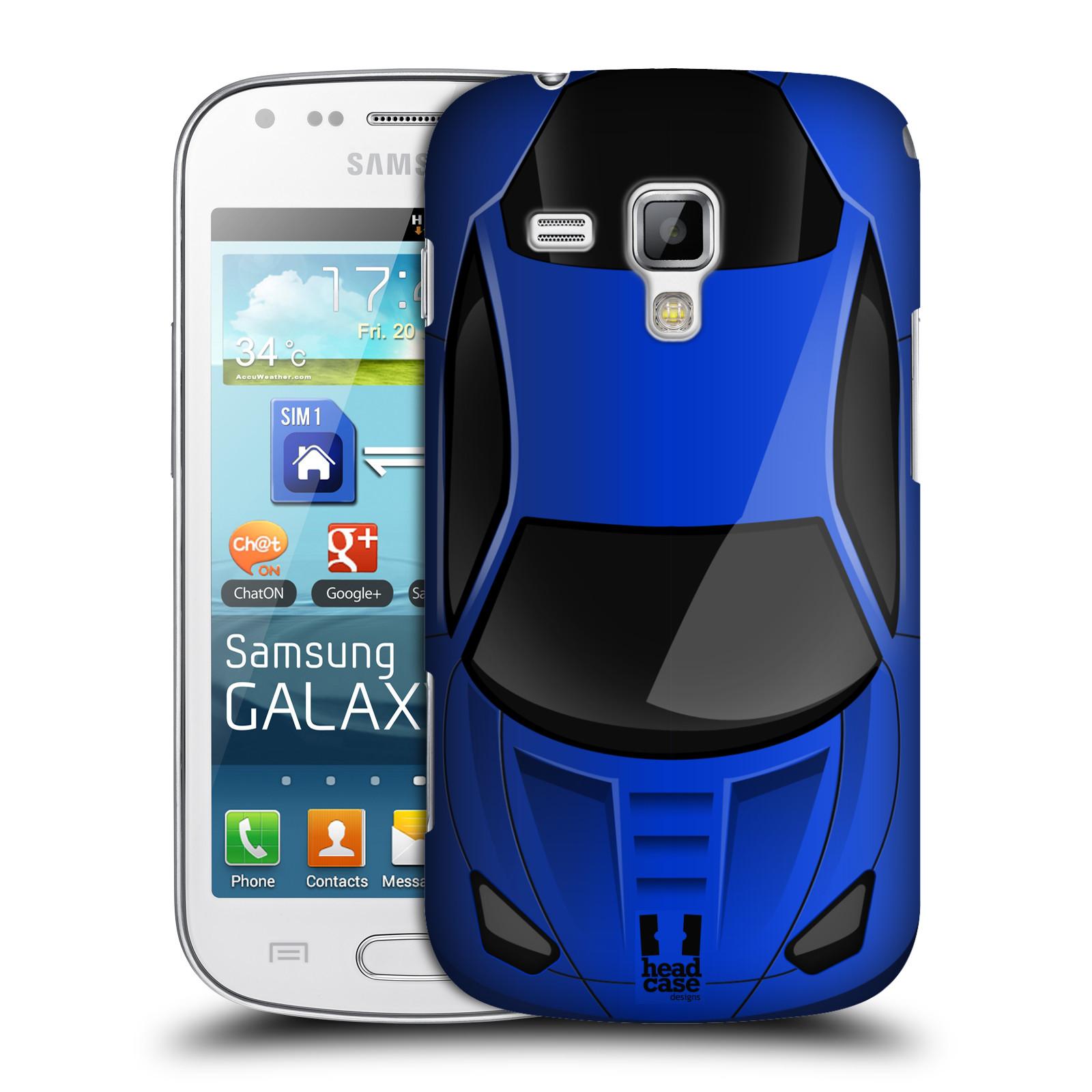 Plastové pouzdro na mobil Samsung Galaxy S Duos 2 HEAD CASE AUTO MODRÉ