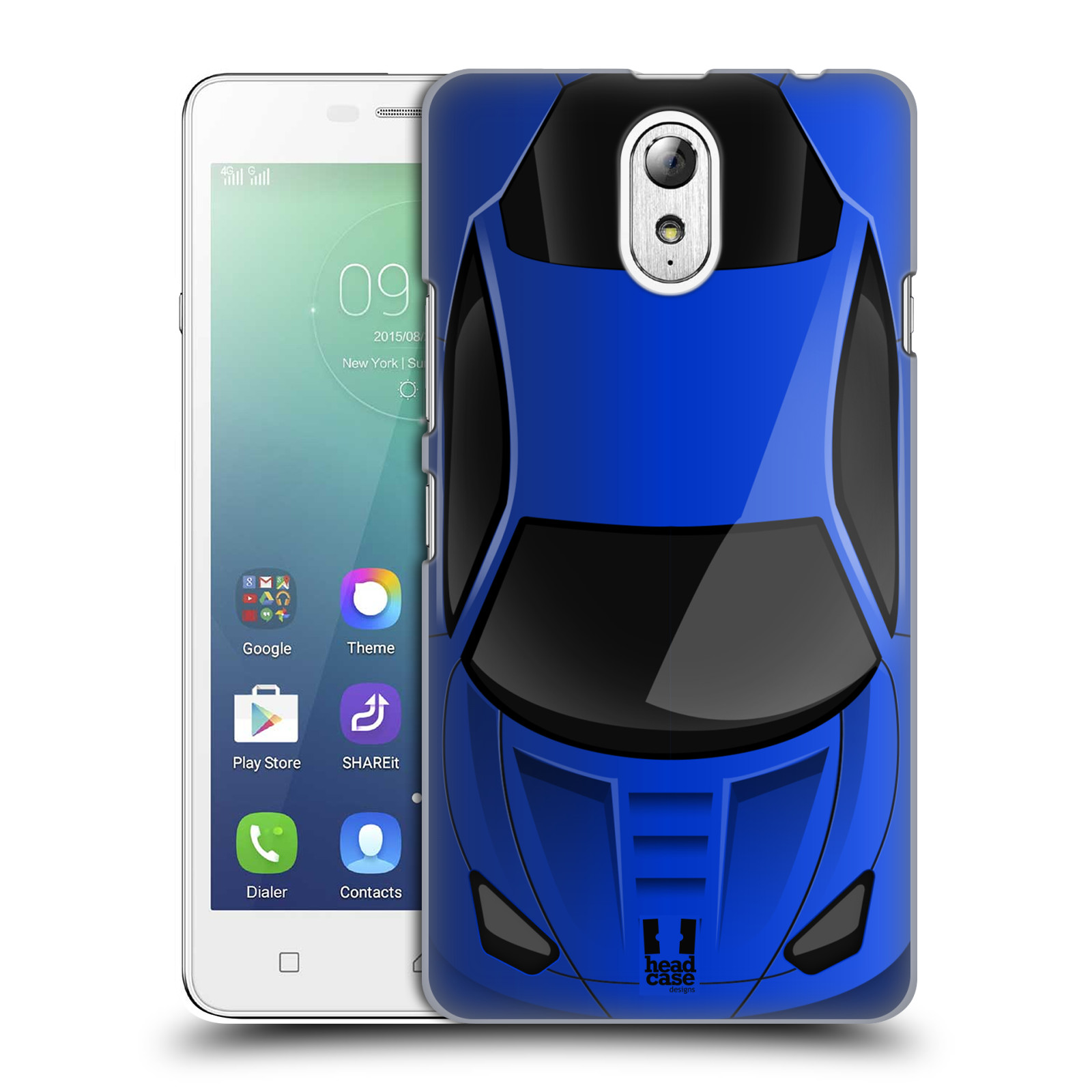 Plastové pouzdro na mobil Lenovo Vibe P1m HEAD CASE AUTO MODRÉ (Kryt či  obal na 9adccb39ad0