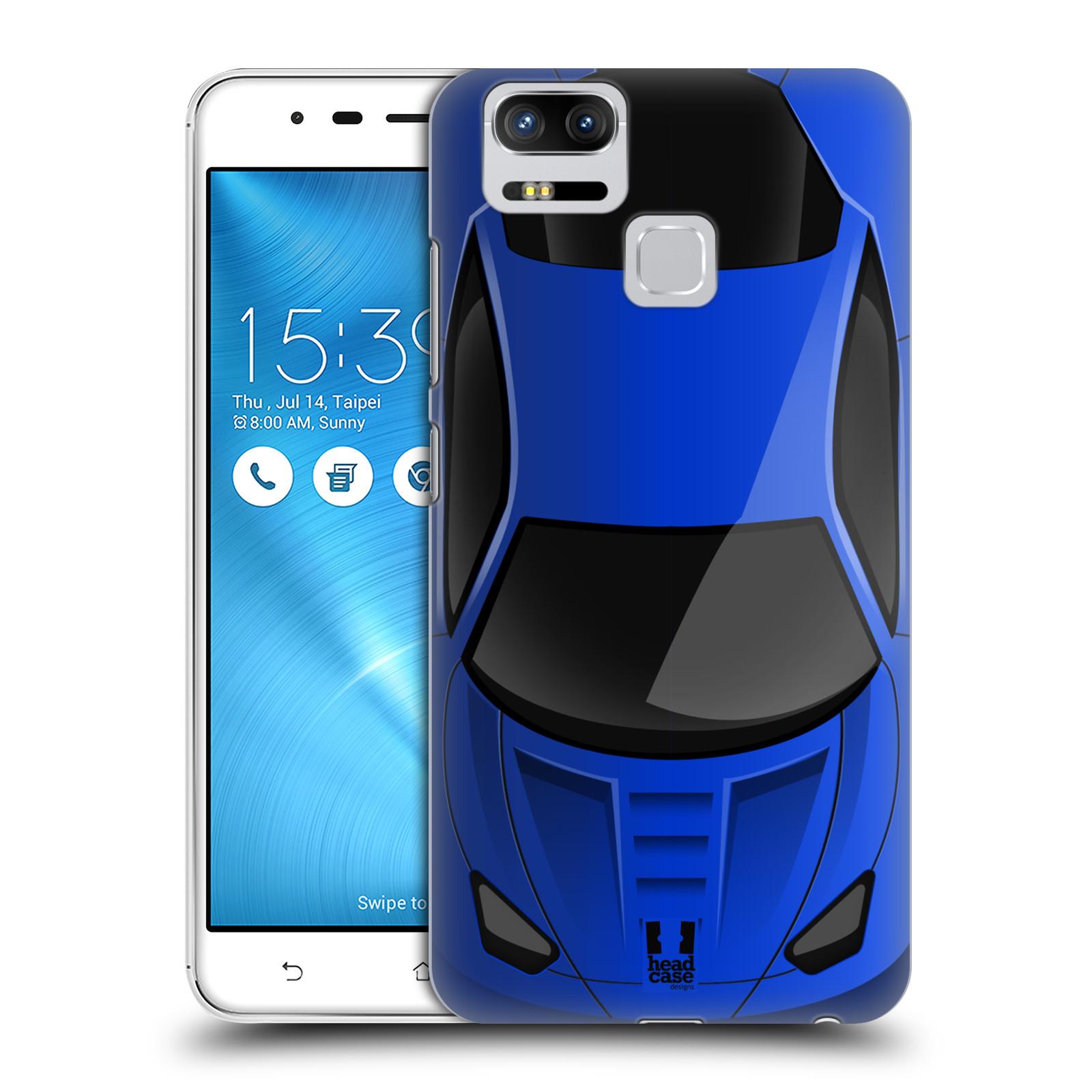 Plastové pouzdro na mobil Asus ZenFone 3 ZOOM ZE553KL - Head Case - AUTO MODRÉ (Plastový kryt či obal na mobilní telefon Asus ZenFone 3 ZOOM ZE553KL s motivem AUTO MODRÉ)