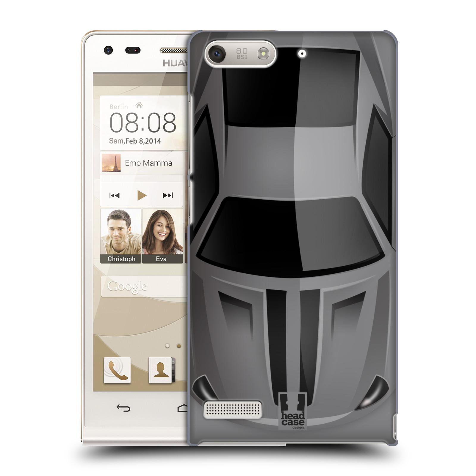 Plastové pouzdro na mobil Huawei Ascend G6 HEAD CASE AUTO ŠEDÉ (Kryt či obal na mobilní telefon Huawei Ascend G6 bez LTE)