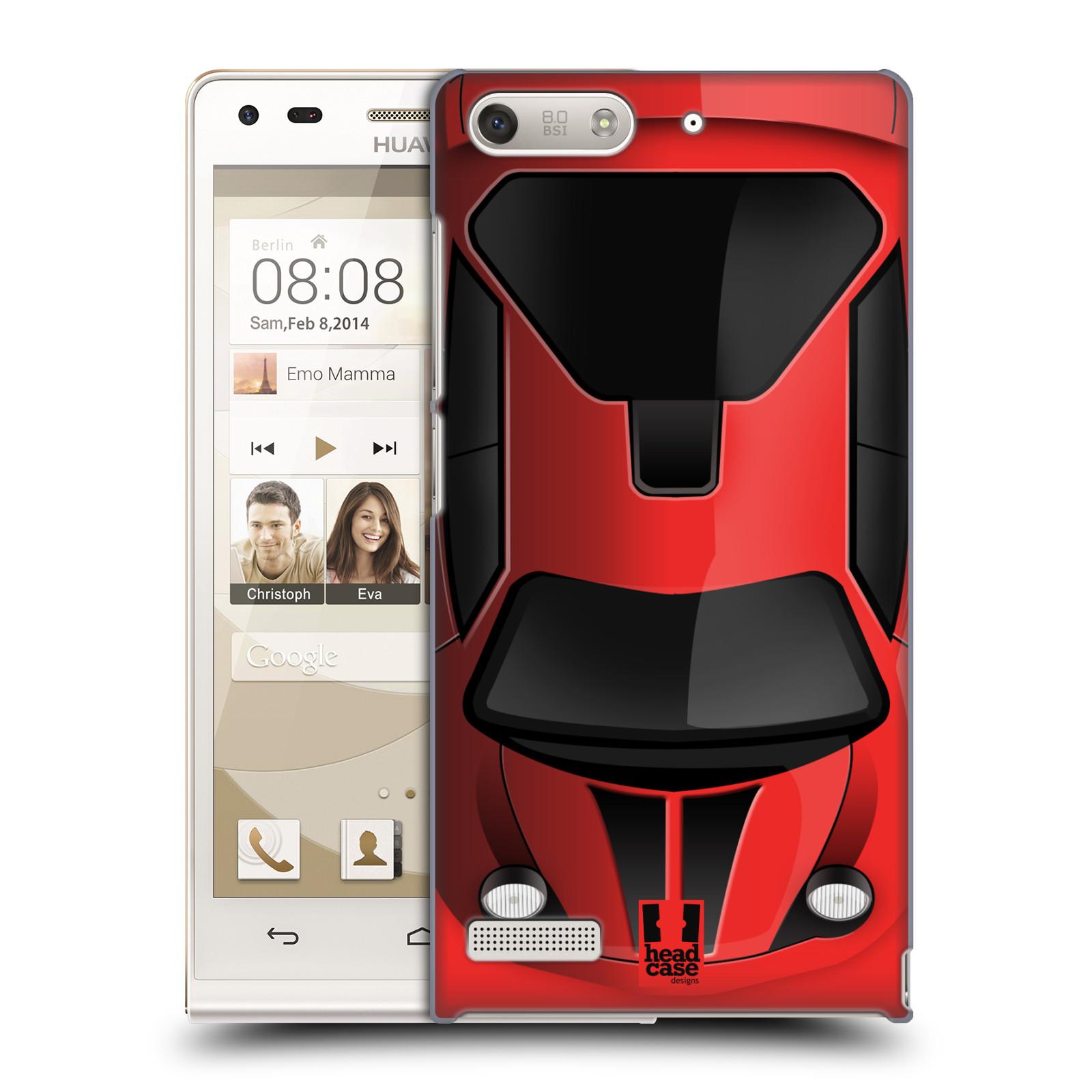 Plastové pouzdro na mobil Huawei Ascend G6 HEAD CASE AUTO ČERVENÉ (Kryt či obal na mobilní telefon Huawei Ascend G6 bez LTE)