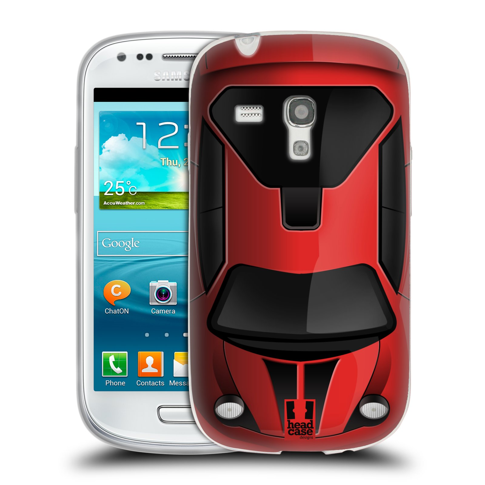 Silikonové pouzdro na mobil Samsung Galaxy S III Mini HEAD CASE AUTO ČERVENÉ (Silikonový kryt či obal na mobilní telefon Samsung Galaxy S III Mini GT-i8190)