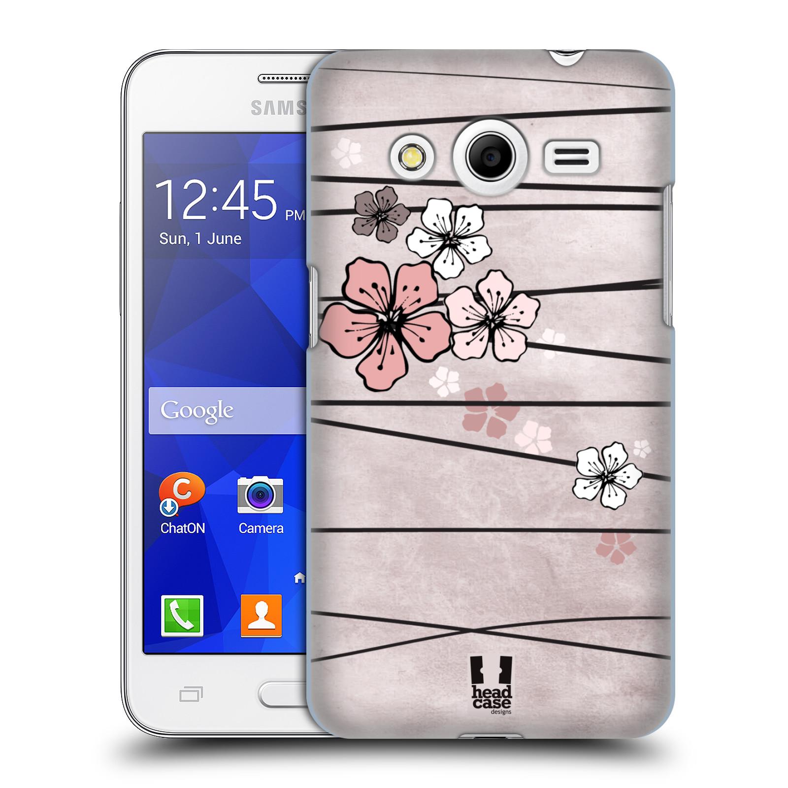 Plastové pouzdro na mobil Samsung Galaxy Core 2 HEAD CASE BLOSSOMS PAPER