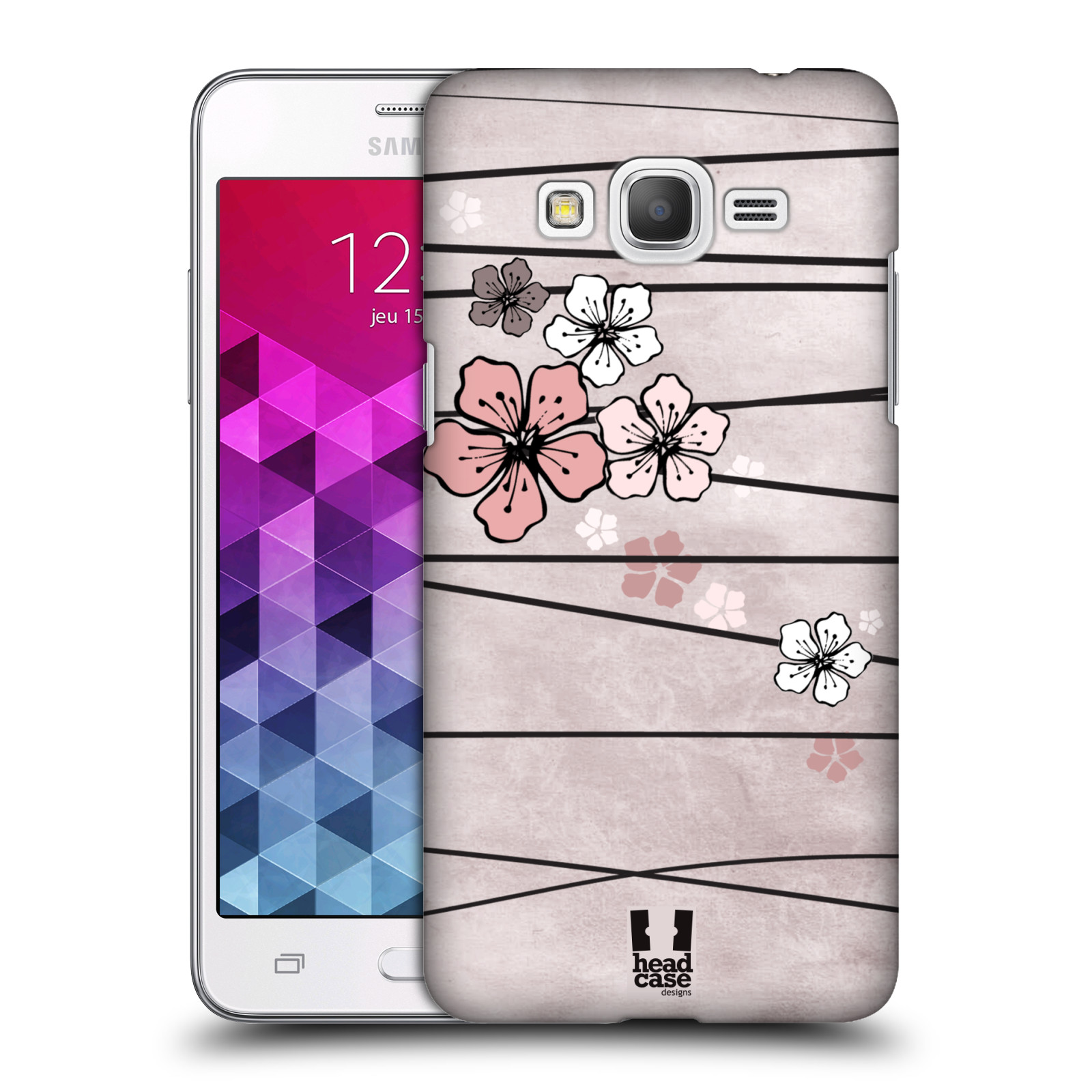 Plastové pouzdro na mobil Samsung Galaxy Grand Prime VE HEAD CASE BLOSSOMS PAPER