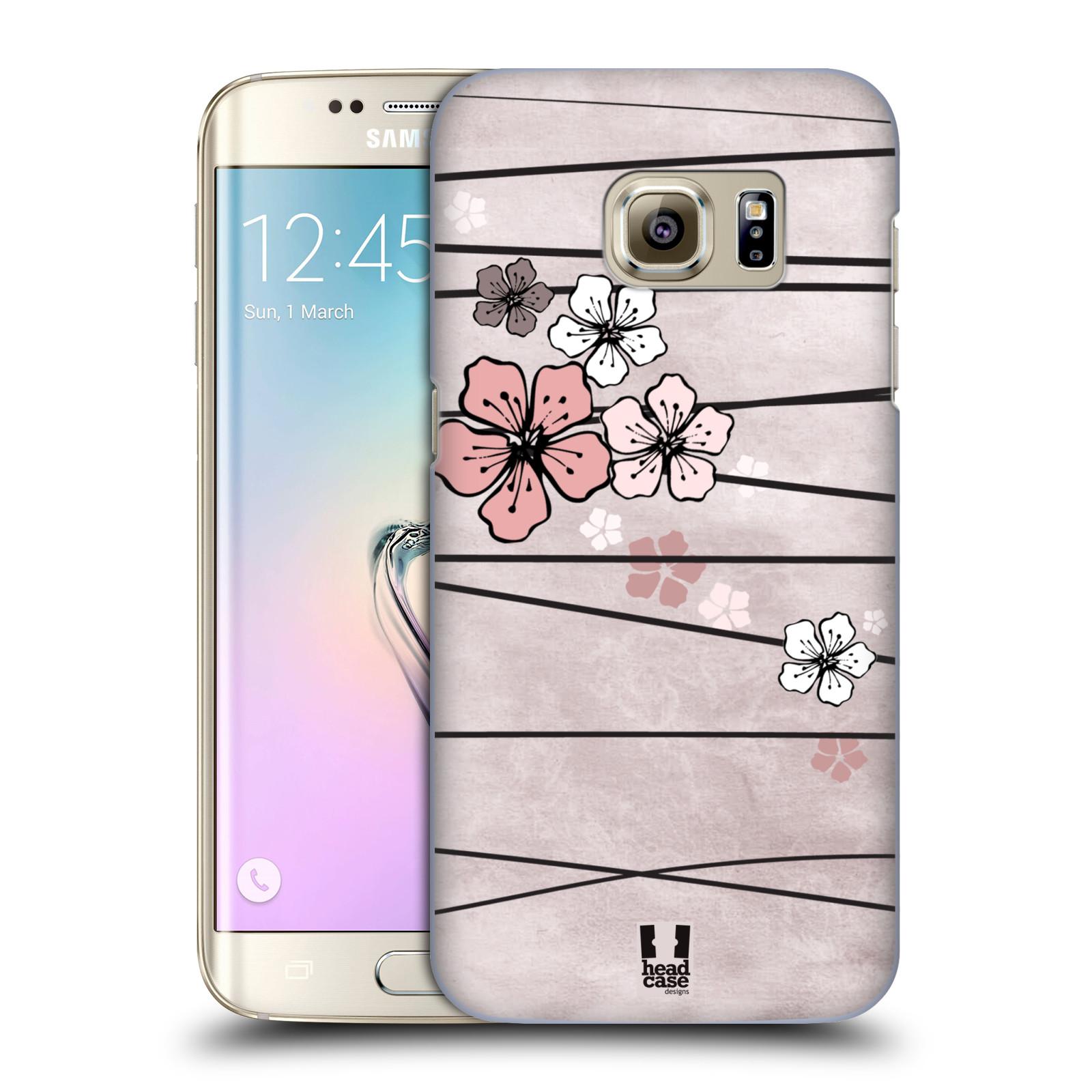 Plastové pouzdro na mobil Samsung Galaxy S7 Edge HEAD CASE BLOSSOMS PAPER (Kryt či obal na mobilní telefon Samsung Galaxy S7 Edge SM-G935F)