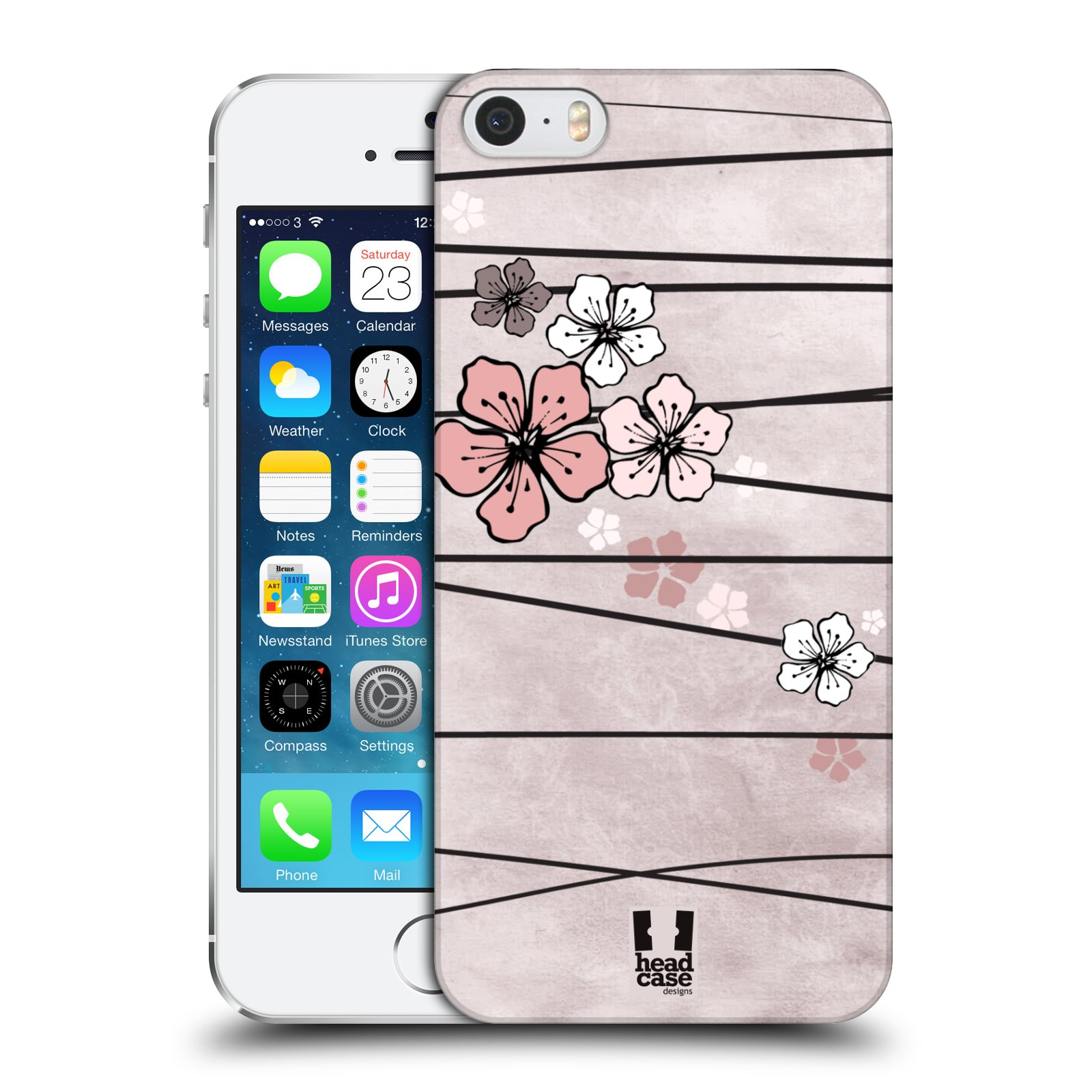 Plastové pouzdro na mobil Apple iPhone SE, 5 a 5S HEAD CASE BLOSSOMS PAPER
