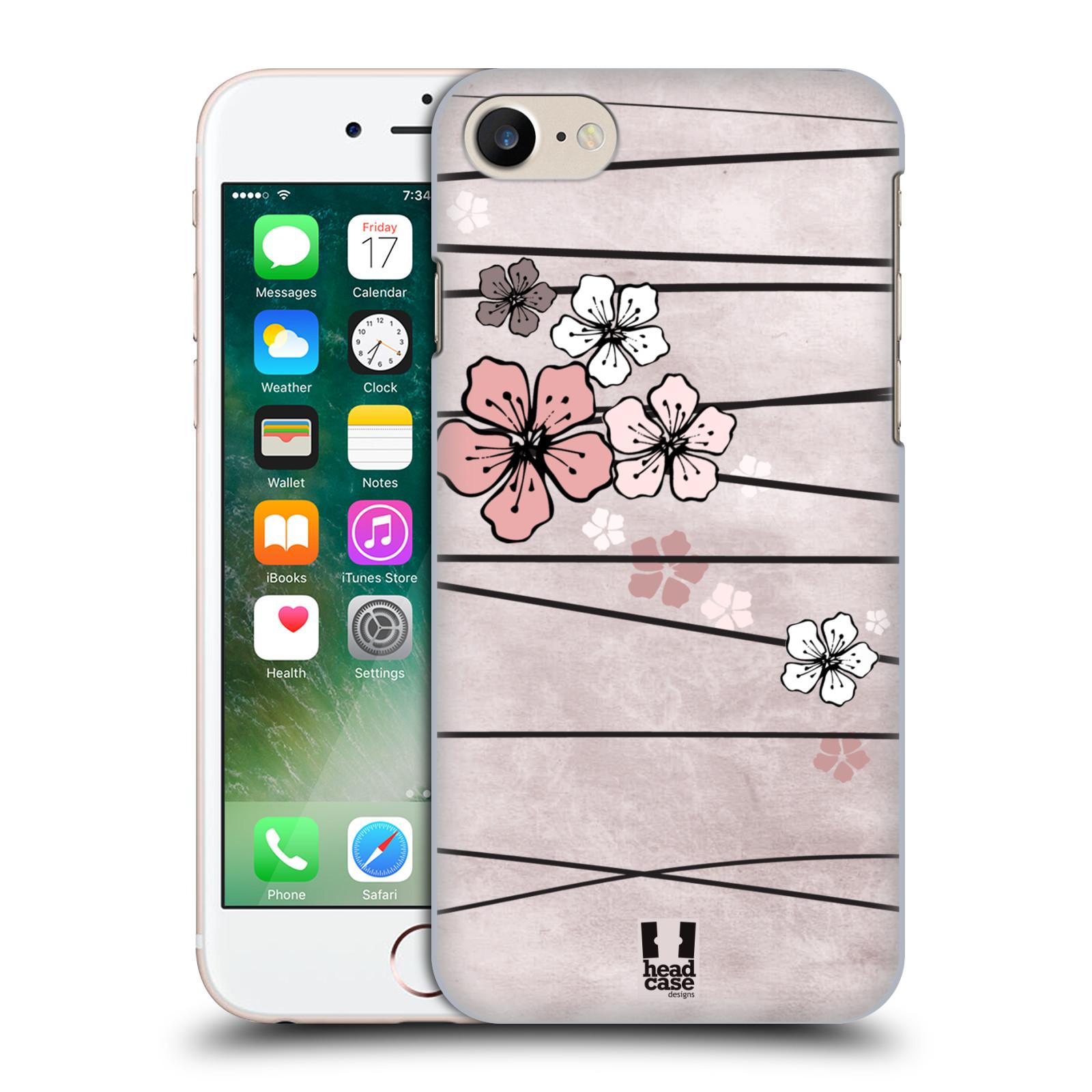 Plastové pouzdro na mobil Apple iPhone 7 HEAD CASE BLOSSOMS PAPER