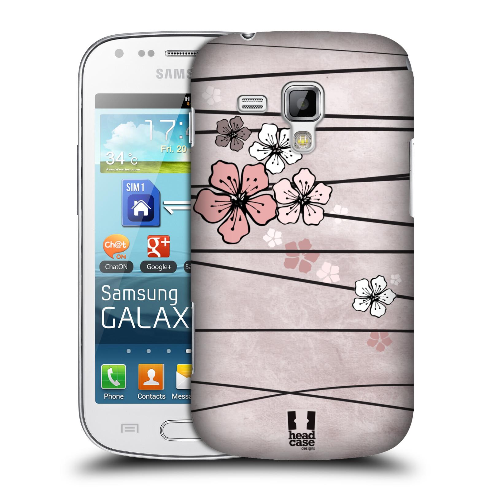 Plastové pouzdro na mobil Samsung Galaxy Trend Plus HEAD CASE BLOSSOMS PAPER