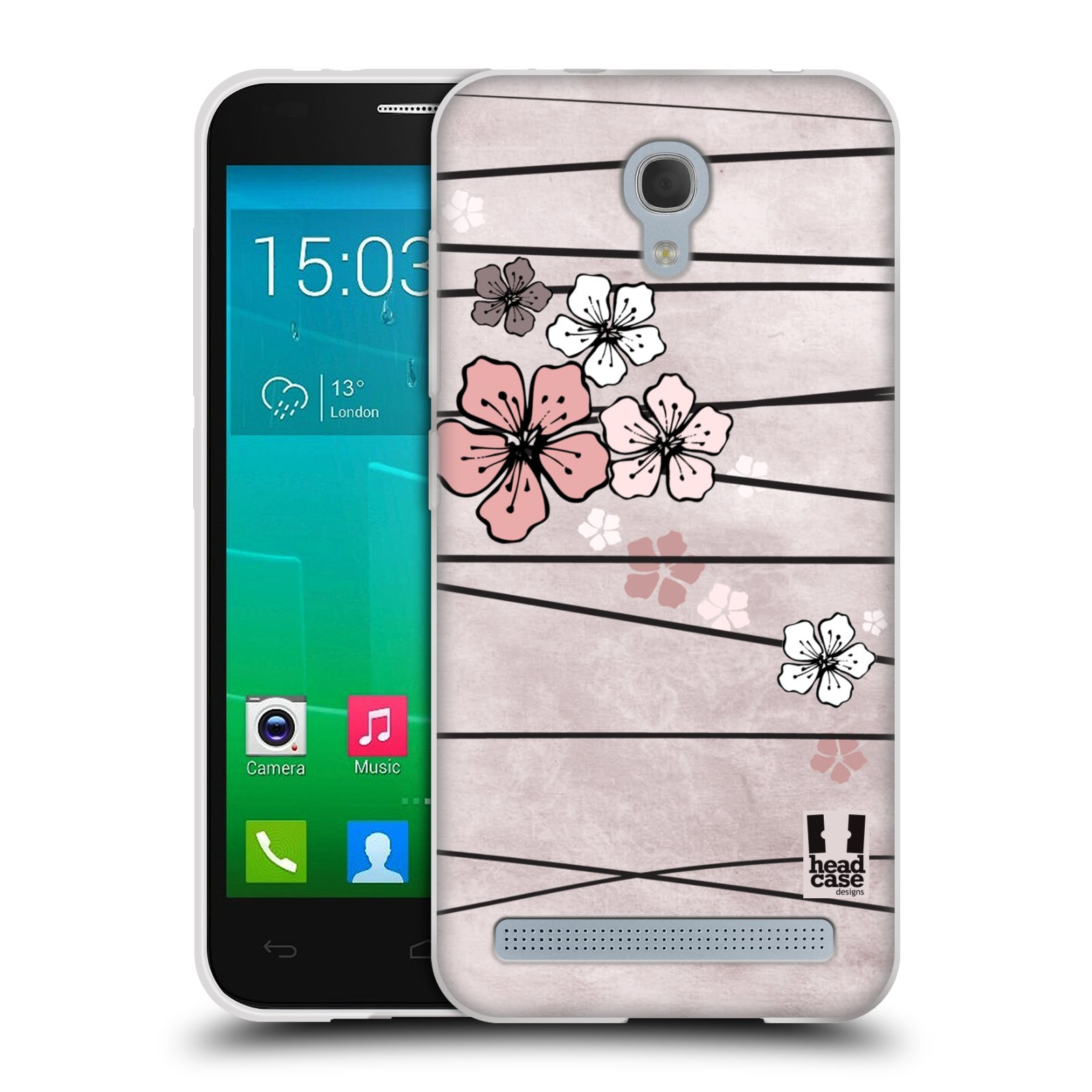 Silikonové pouzdro na mobil Alcatel One Touch Idol 2 Mini S 6036Y HEAD CASE BLOSSOMS PAPER