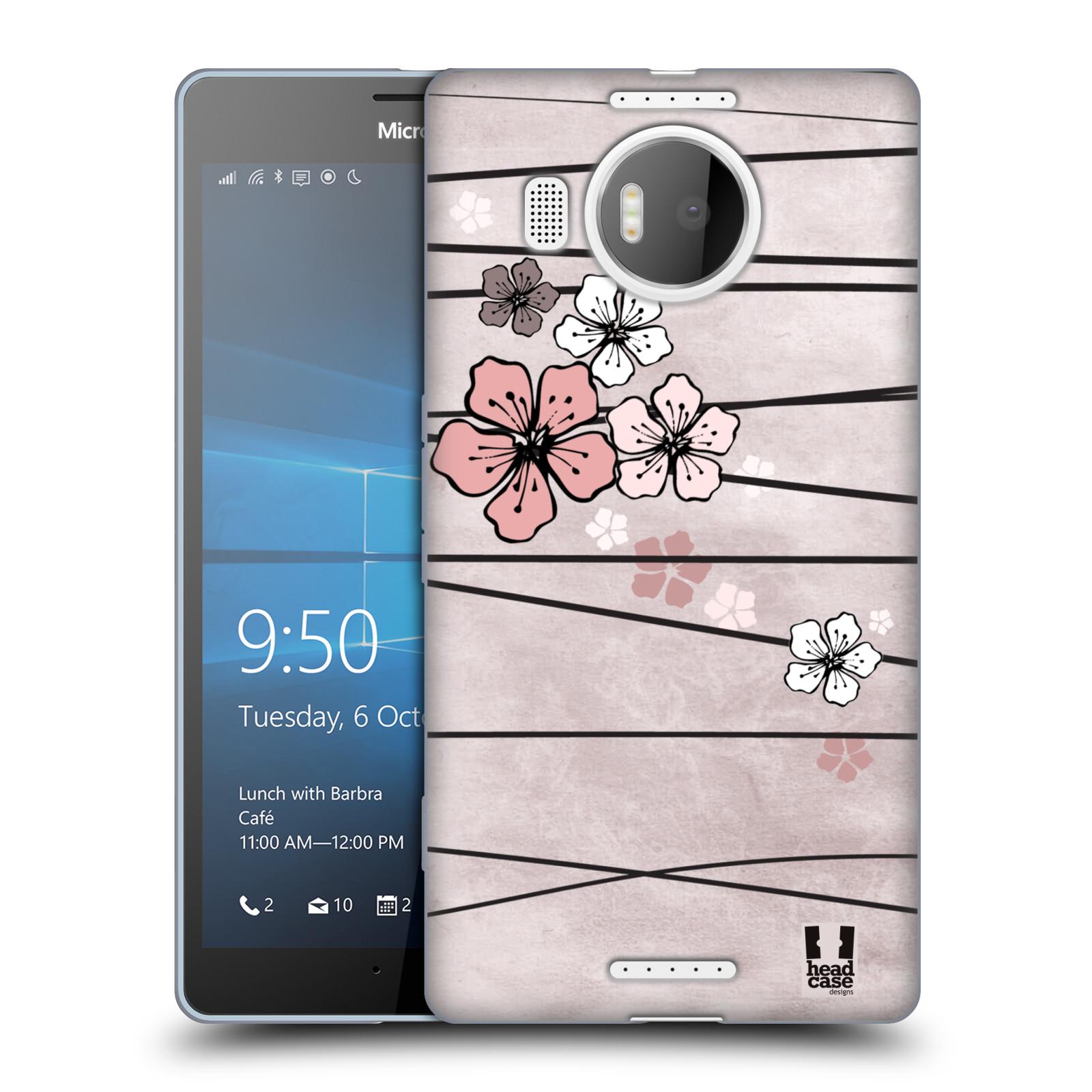 Silikonové pouzdro na mobil Microsoft Lumia 950 XL HEAD CASE BLOSSOMS PAPER