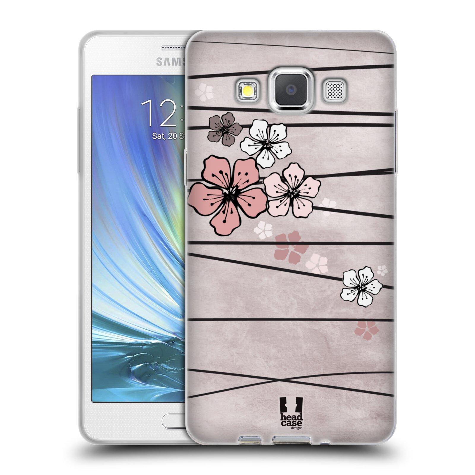 Silikonové pouzdro na mobil Samsung Galaxy A5 HEAD CASE BLOSSOMS PAPER