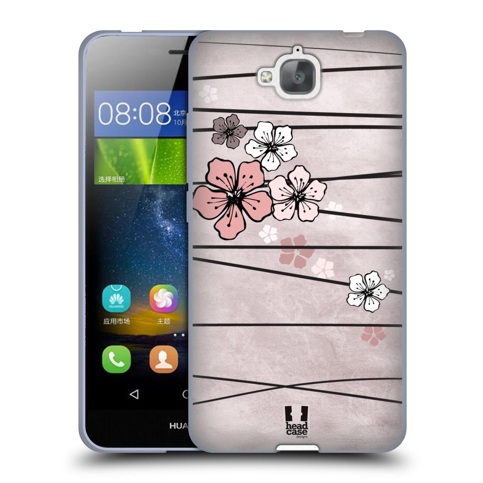Silikonové pouzdro na mobil Huawei Y6 Pro Dual Sim HEAD CASE BLOSSOMS PAPER