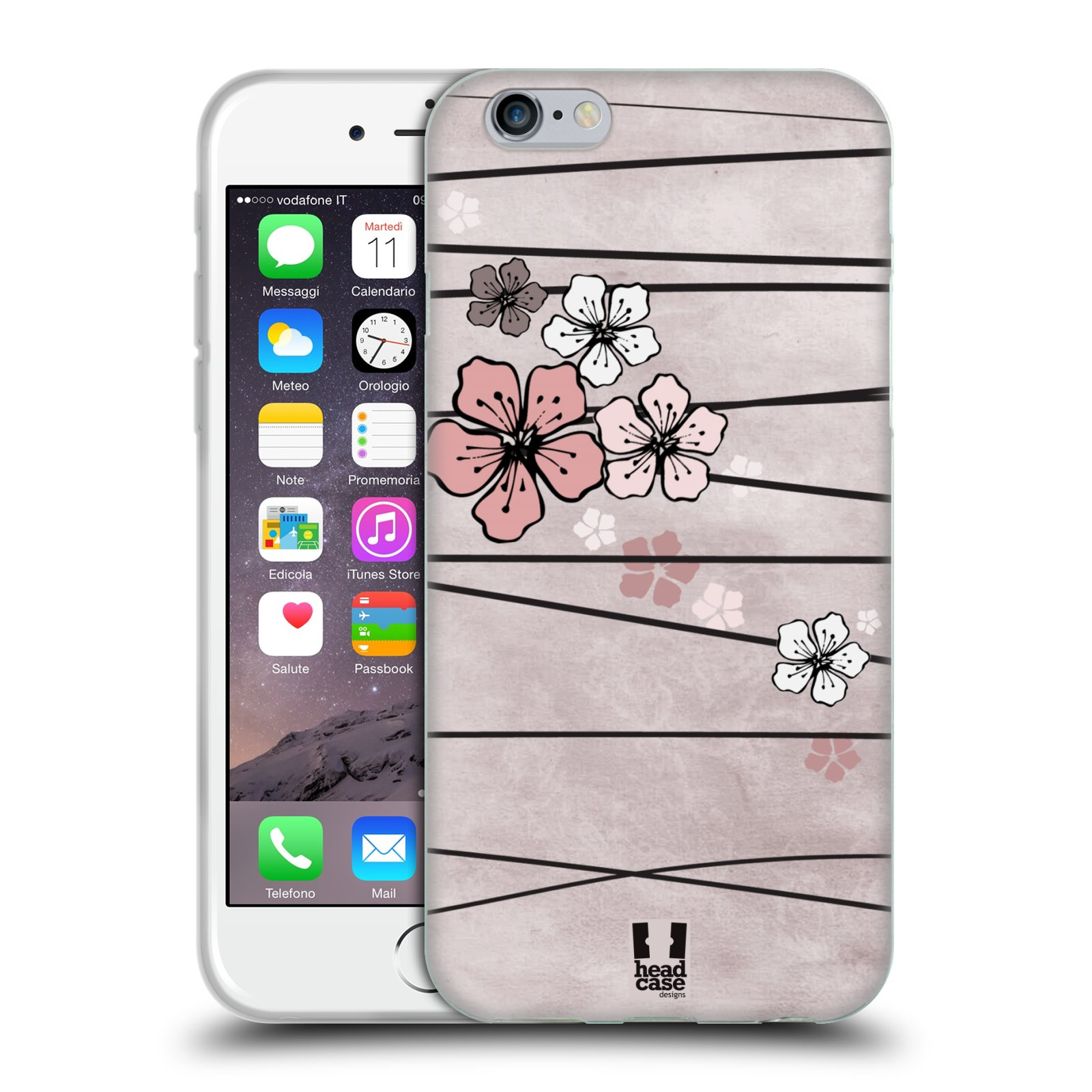 Silikonové pouzdro na mobil Apple iPhone 6 a 6S HEAD CASE BLOSSOMS PAPER
