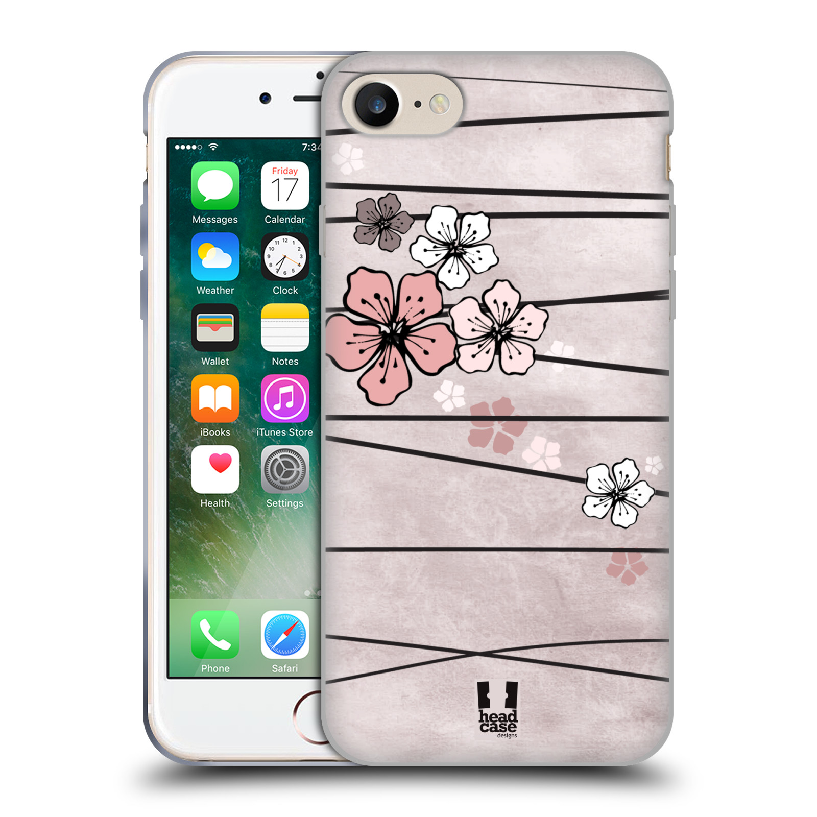 Silikonové pouzdro na mobil Apple iPhone 8 - Head Case - BLOSSOMS PAPER