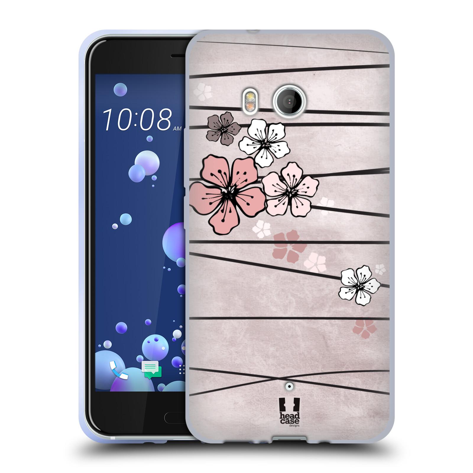 Silikonové pouzdro na mobil HTC U11 - Head Case - BLOSSOMS PAPER