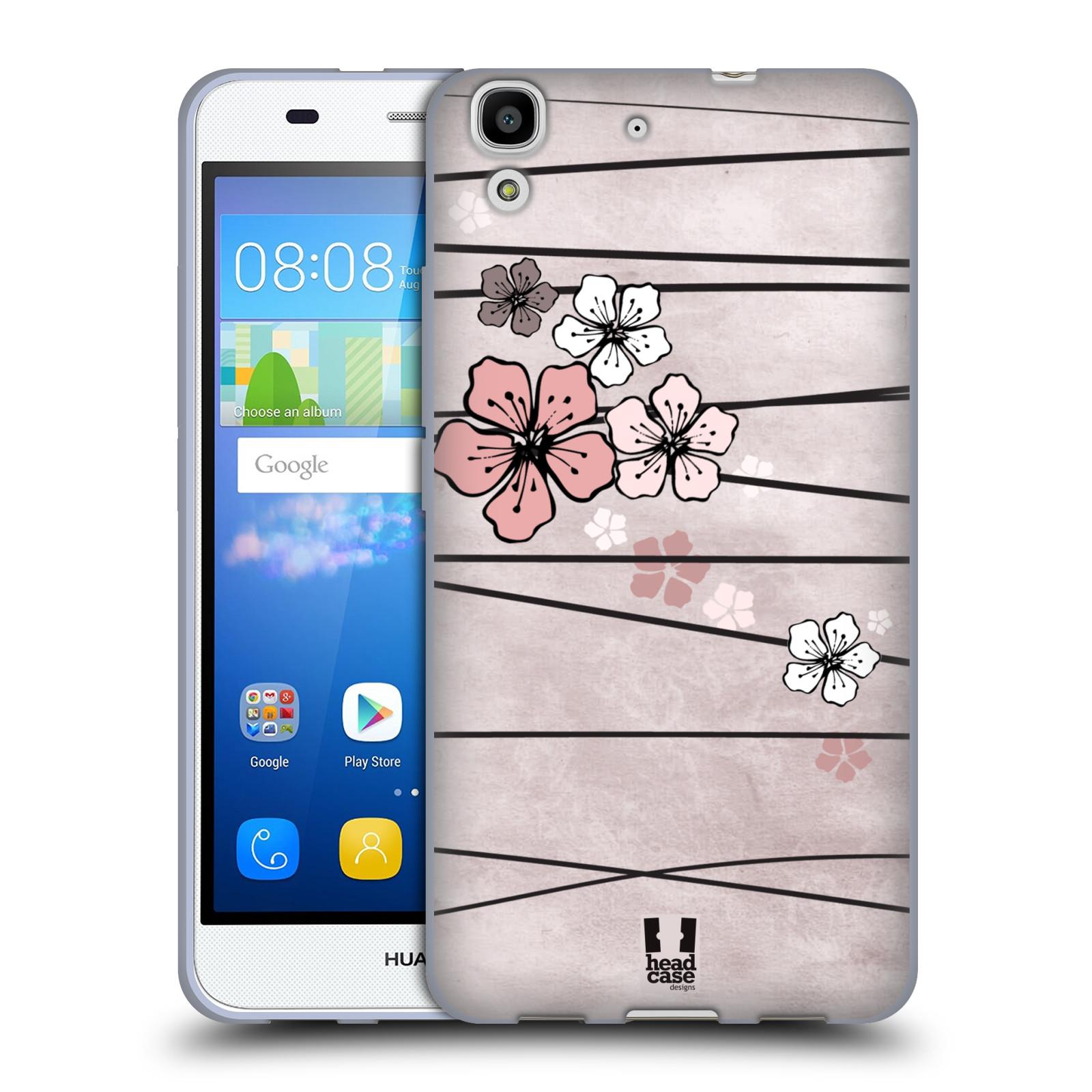 Silikonové pouzdro na mobil Huawei Y6 HEAD CASE BLOSSOMS PAPER