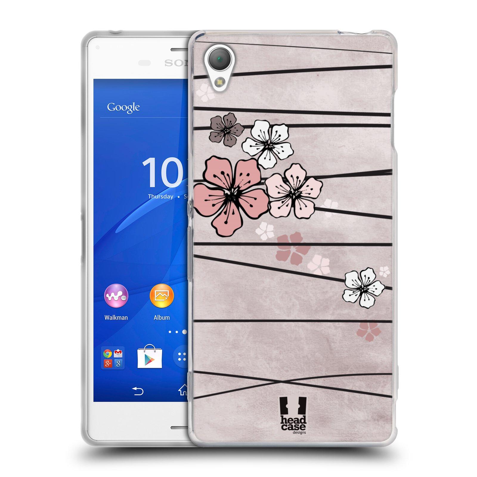 Silikonové pouzdro na mobil Sony Xperia Z3 D6603 HEAD CASE BLOSSOMS PAPER