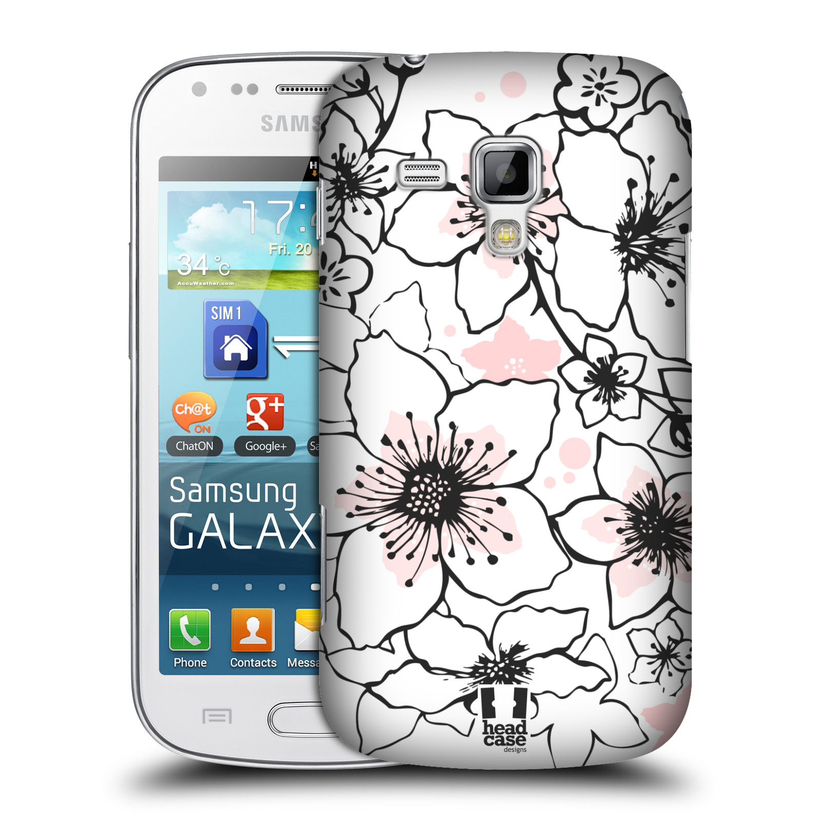 Plastové pouzdro na mobil Samsung Galaxy Trend Plus HEAD CASE BLOSSOMS SPRINGTIME