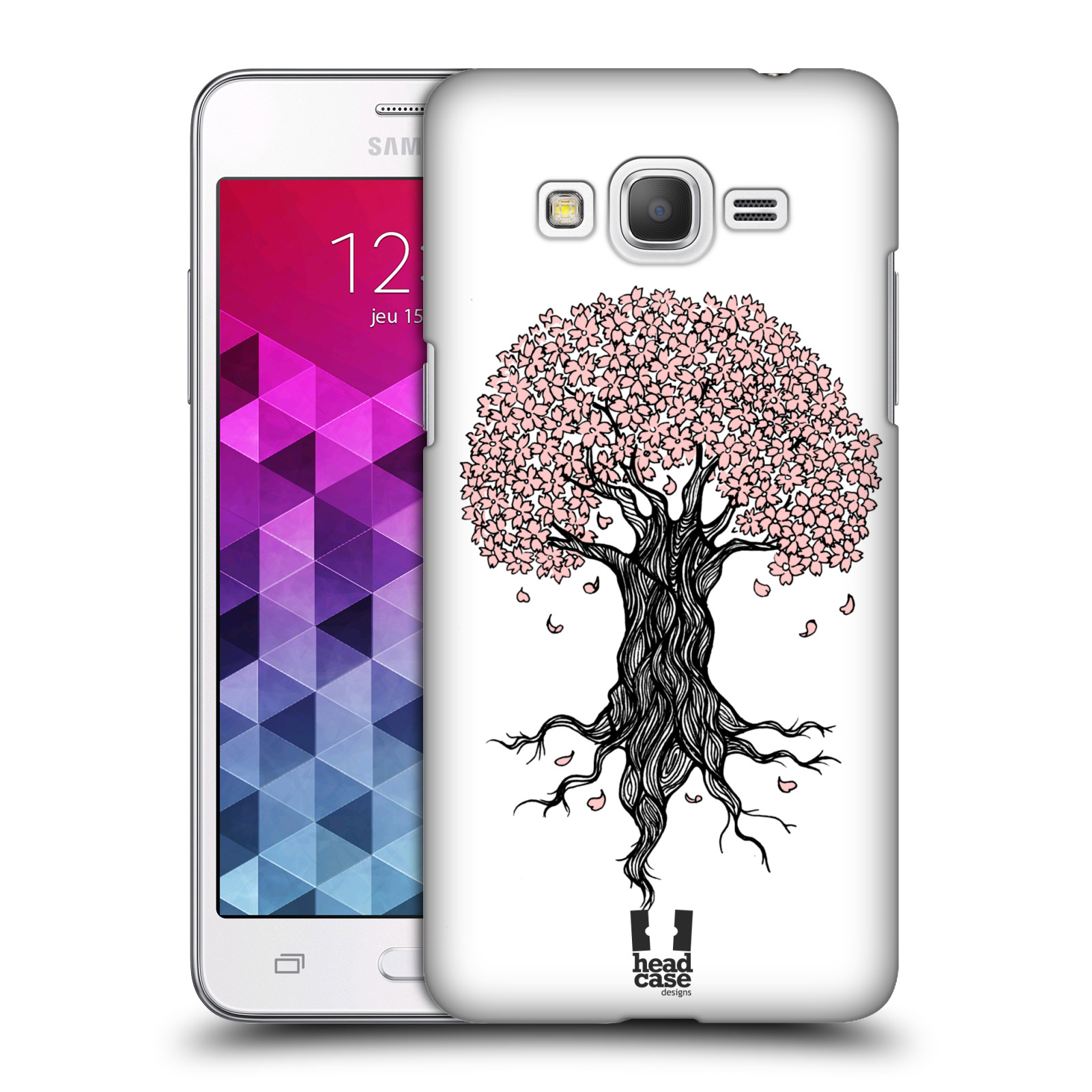 Plastové pouzdro na mobil Samsung Galaxy Grand Prime HEAD CASE BLOSSOMS TREE