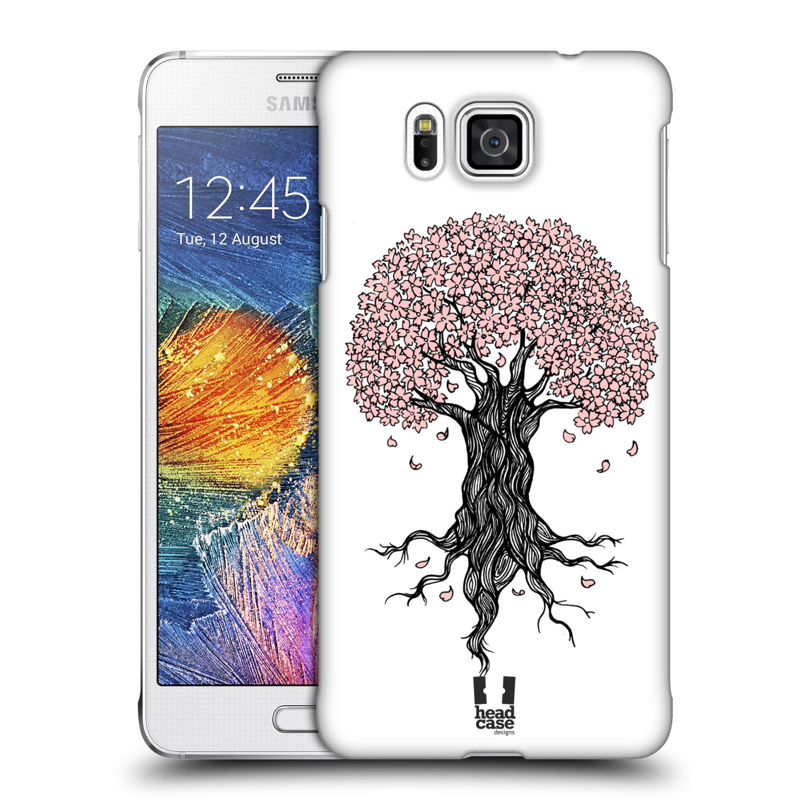 Plastové pouzdro na mobil Samsung Galaxy Alpha HEAD CASE BLOSSOMS TREE
