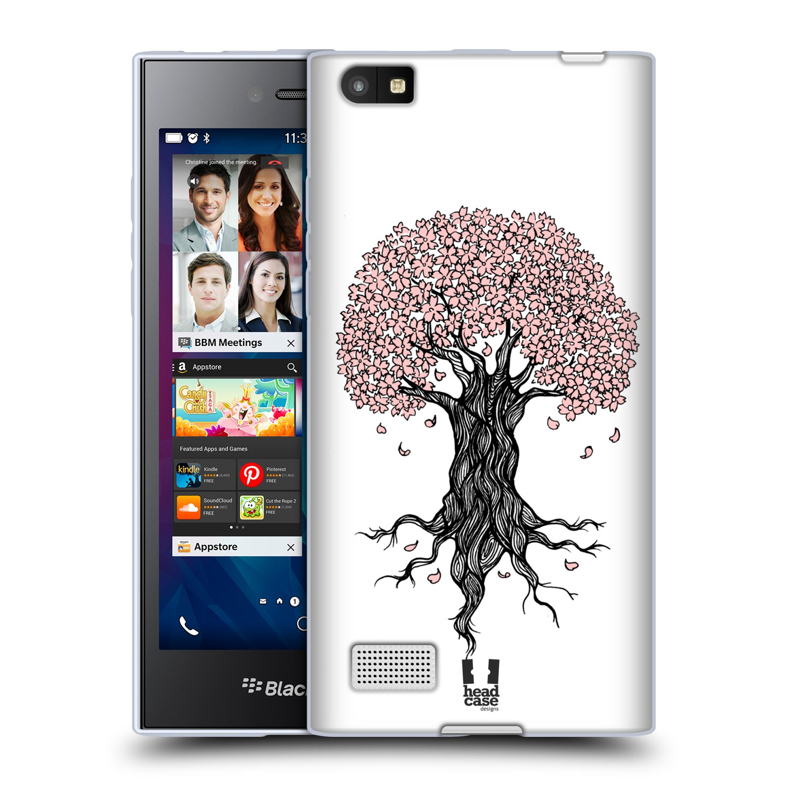 Silikonové pouzdro na mobil Blackberry Leap HEAD CASE BLOSSOMS TREE