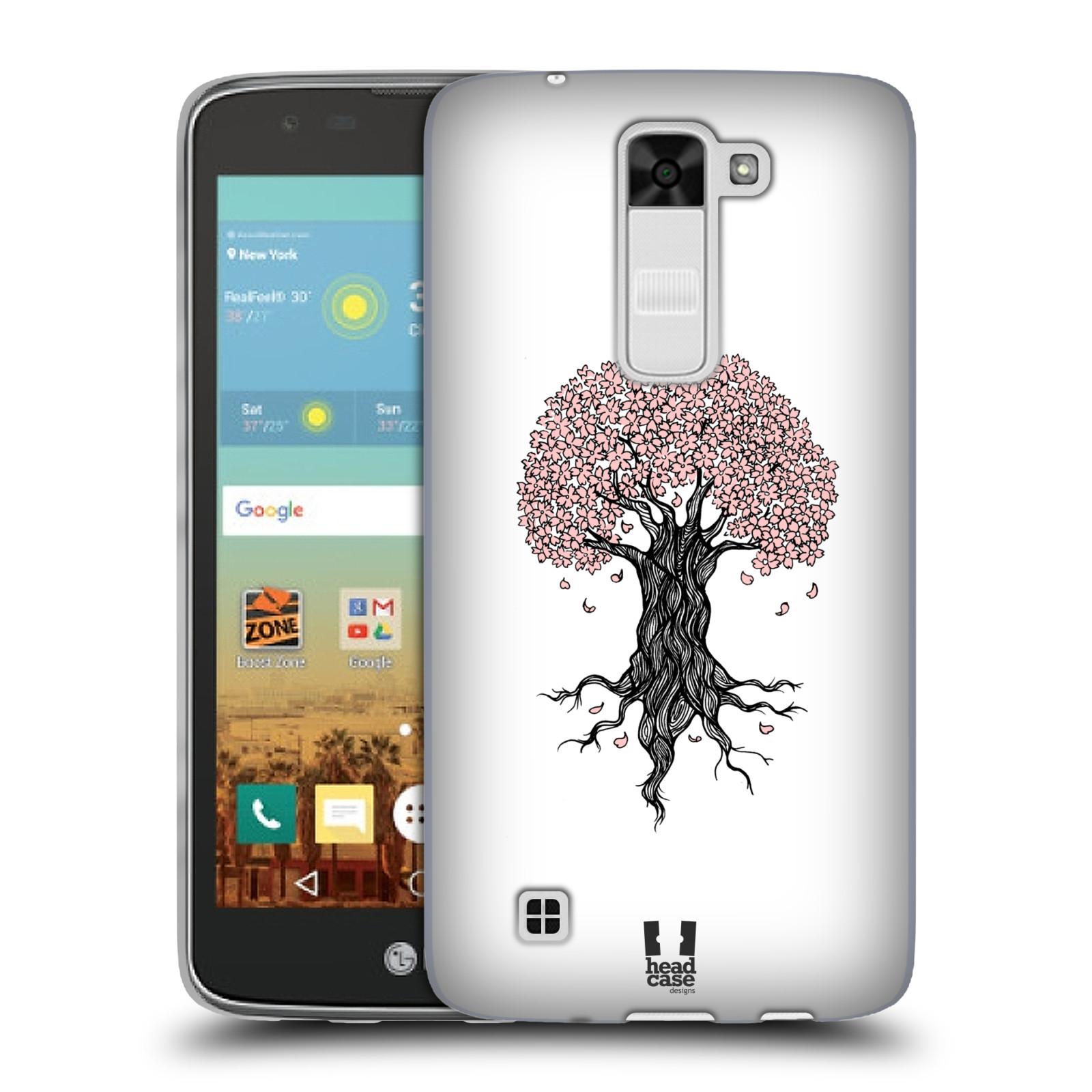 Silikonové pouzdro na mobil LG K7 HEAD CASE BLOSSOMS TREE