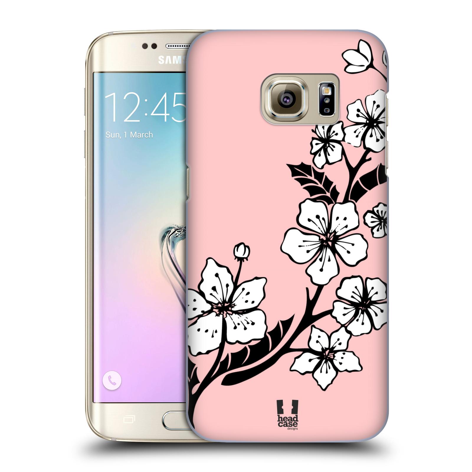 Plastové pouzdro na mobil Samsung Galaxy S7 Edge HEAD CASE BLOSSOMS VINE (Kryt či obal na mobilní telefon Samsung Galaxy S7 Edge SM-G935F)