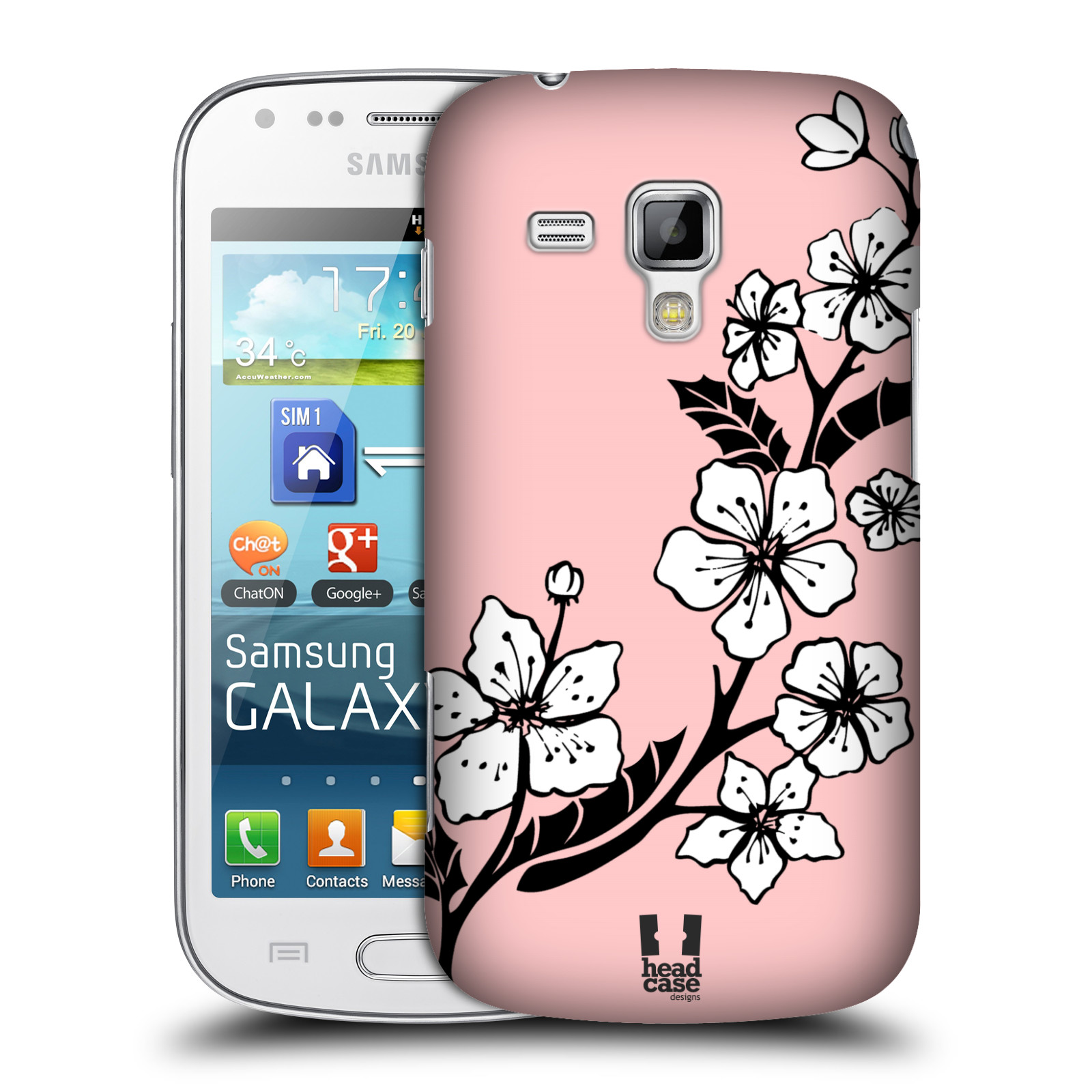 Plastové pouzdro na mobil Samsung Galaxy Trend Plus HEAD CASE BLOSSOMS VINE