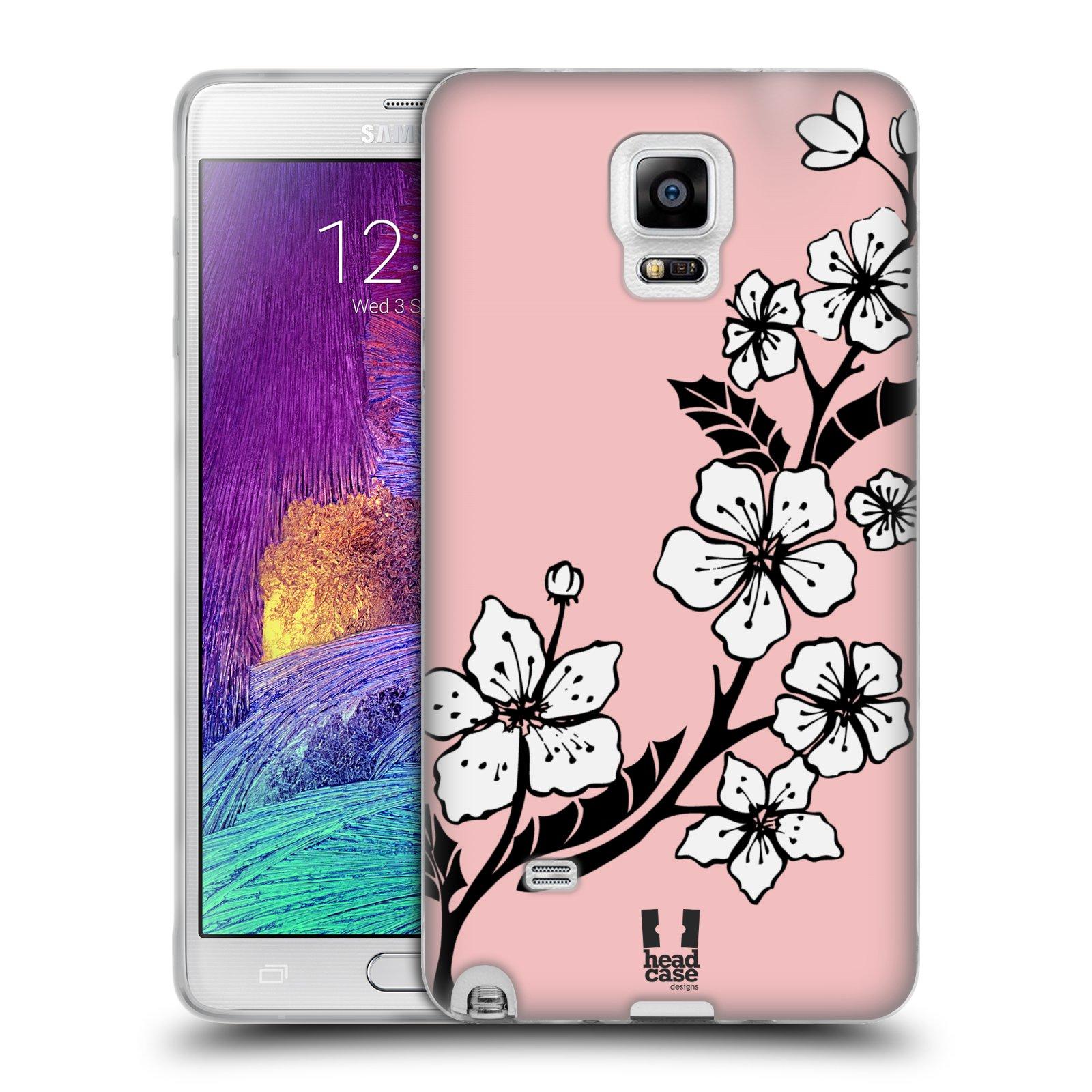 Silikonové pouzdro na mobil Samsung Galaxy Note 4 HEAD CASE BLOSSOMS VINE (Silikonový kryt či obal na mobilní telefon Samsung Galaxy Note 4 SM-N910F)