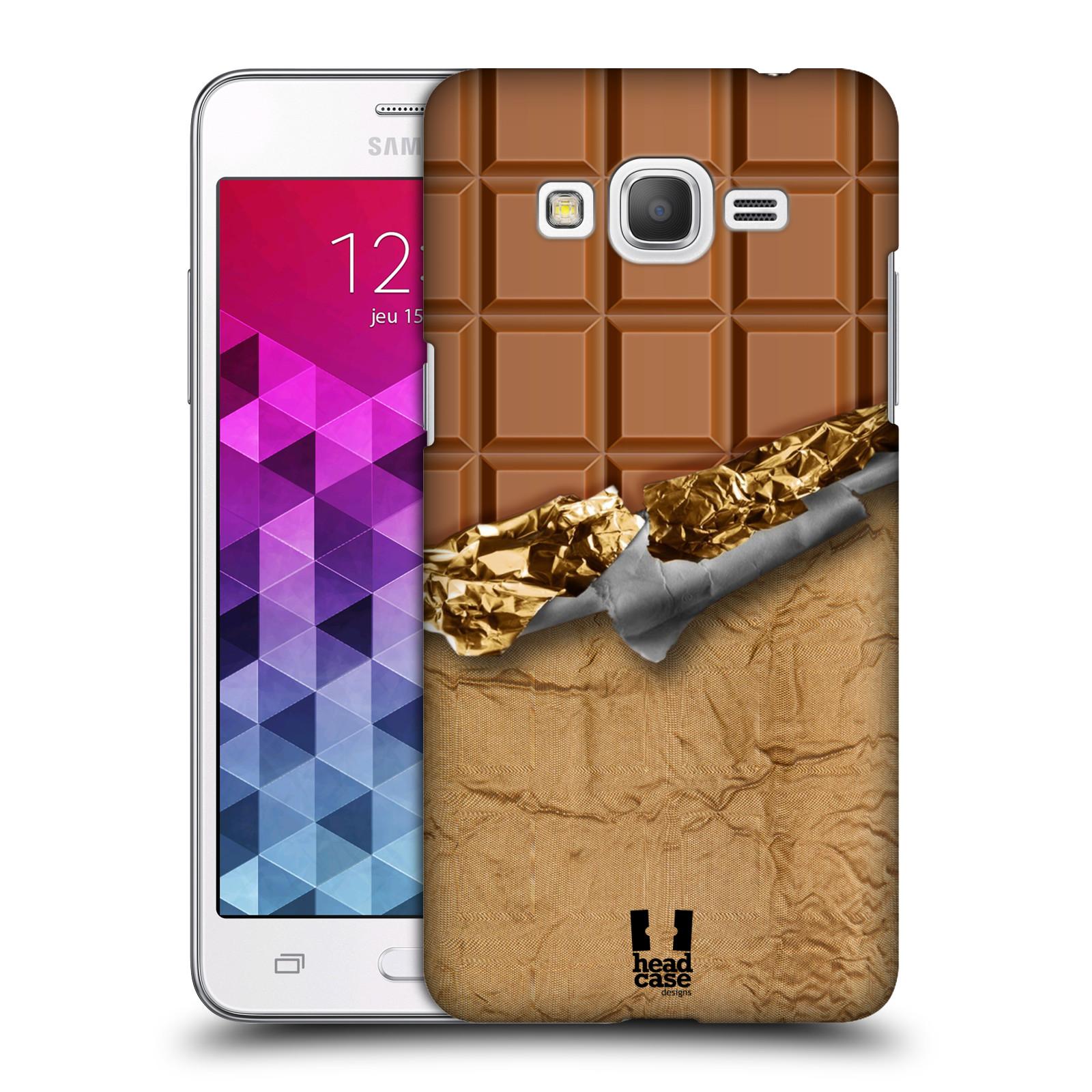 Plastové pouzdro na mobil Samsung Galaxy Grand Prime HEAD CASE ČOKOFOILED